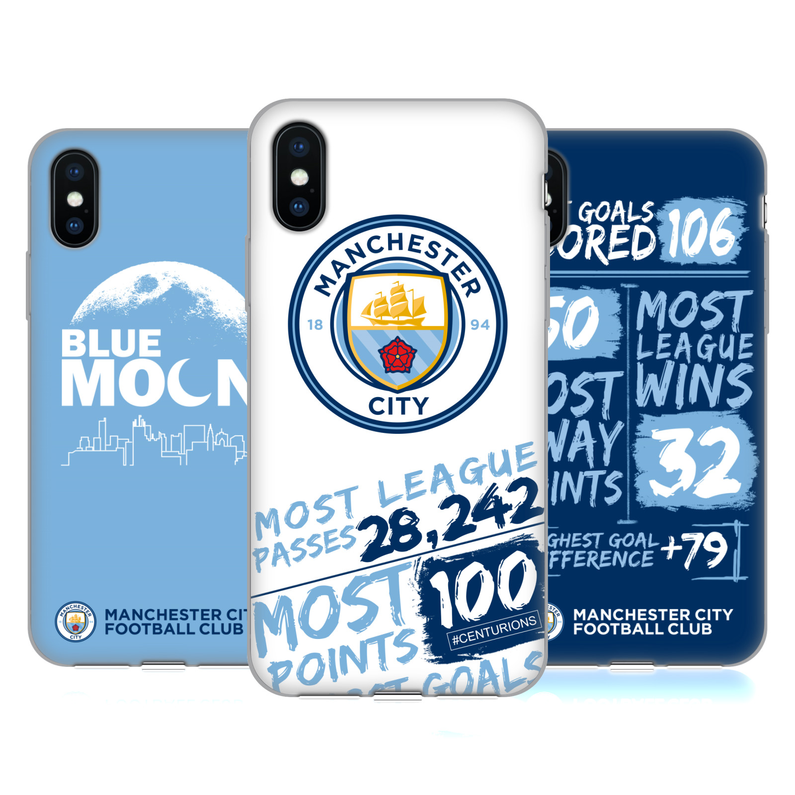 Manchester City Man City FC 2018/19 Typography