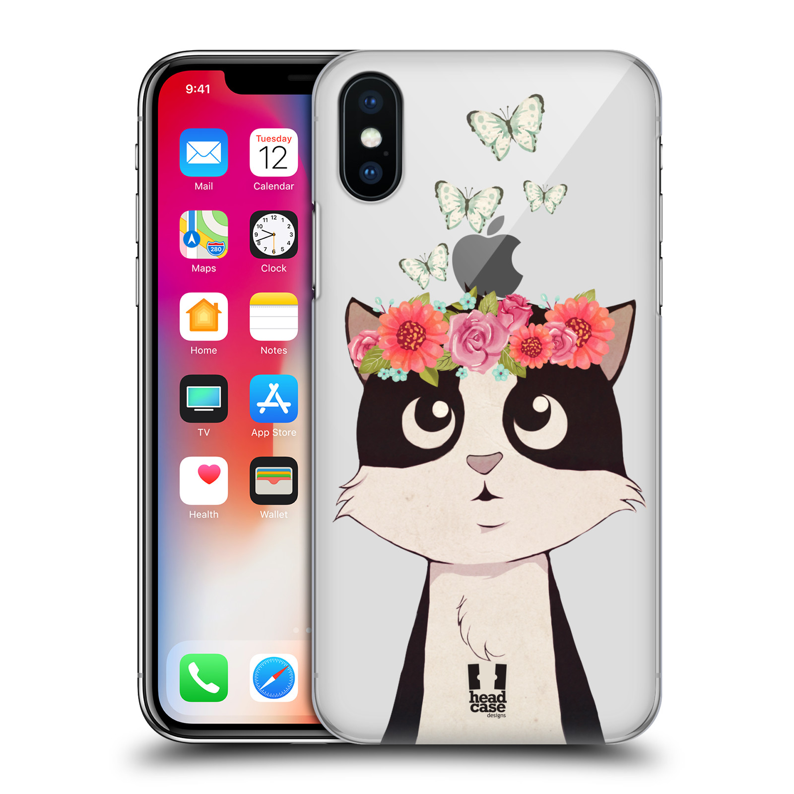 HEAD-CASE-DESIGNS-MEADOW-BLOSSOMS-2-HARD-BACK-CASE-FOR-APPLE-iPHONE-X