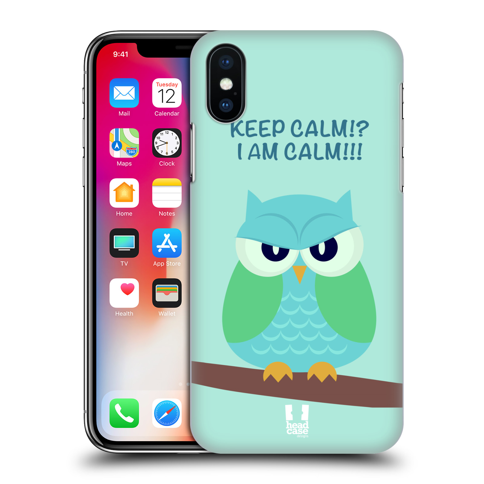HEAD-CASE-DESIGNS-MEAN-OWLS-HARD-BACK-CASE-FOR-APPLE-iPHONE-X