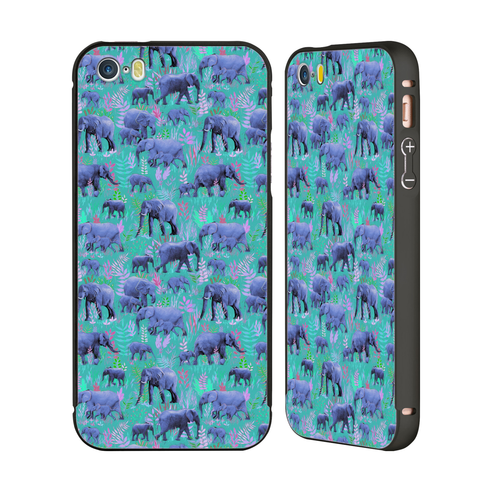 OFFICIAL-MICKLYN-LE-FEUVRE-ANIMALS-BLACK-SLIDER-CASE-FOR-APPLE-iPHONE-PHONES