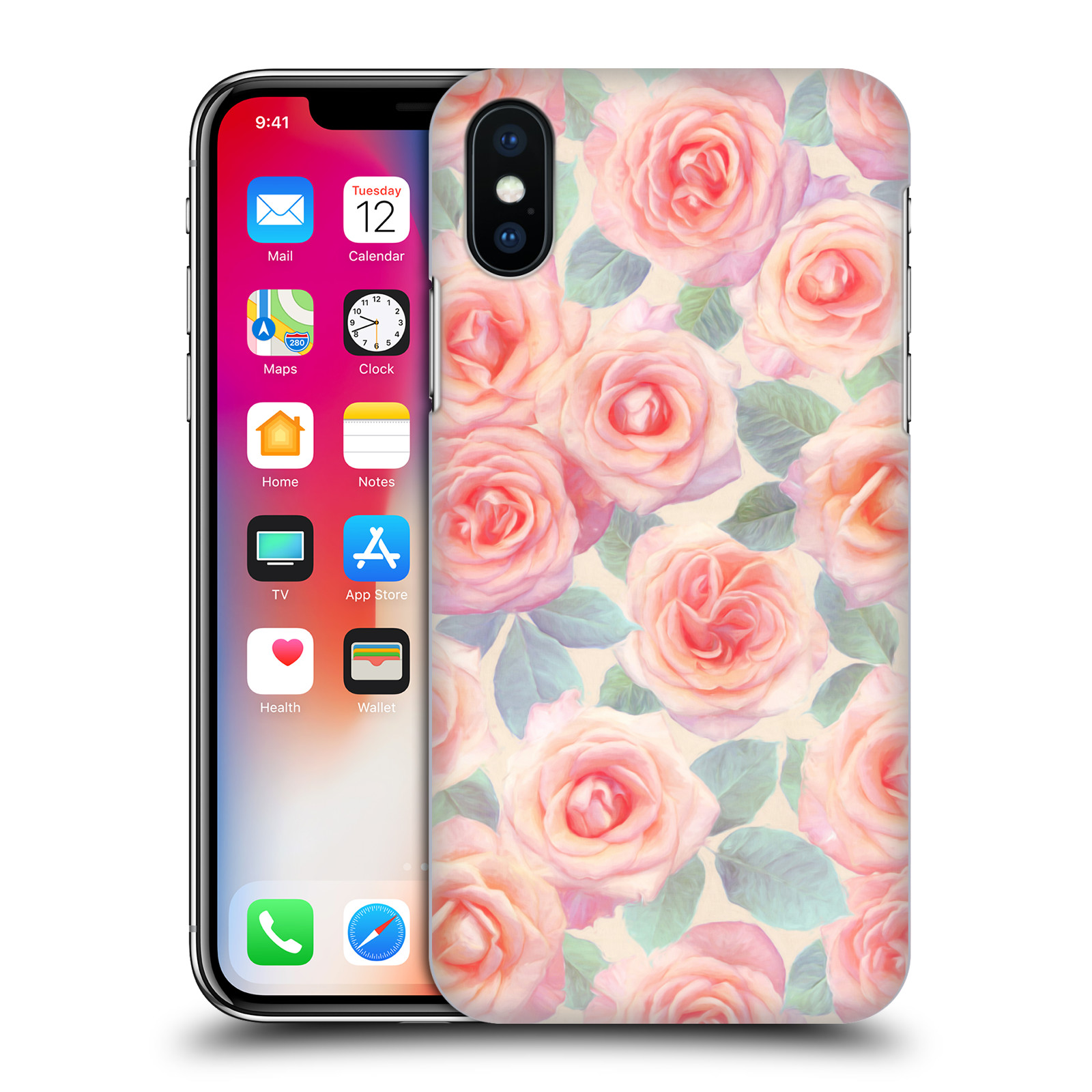 OFFICIAL-MICKLYN-LE-FEUVRE-FLORALS-4-HARD-BACK-CASE-FOR-APPLE-iPHONE-PHONES