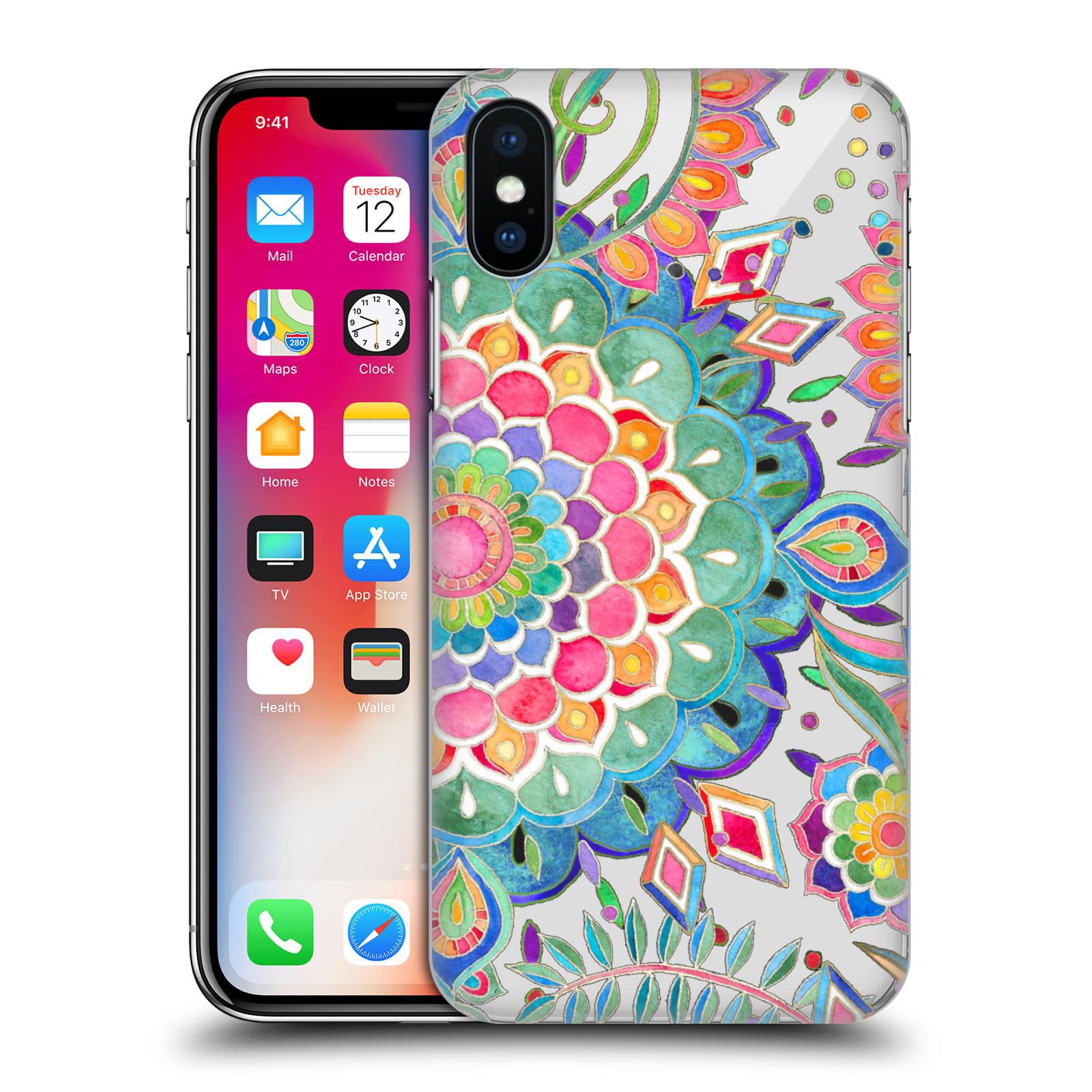 OFFICIAL-MICKLYN-LE-FEUVRE-MANDALA-5-HARD-BACK-CASE-FOR-APPLE-iPHONE-PHONES