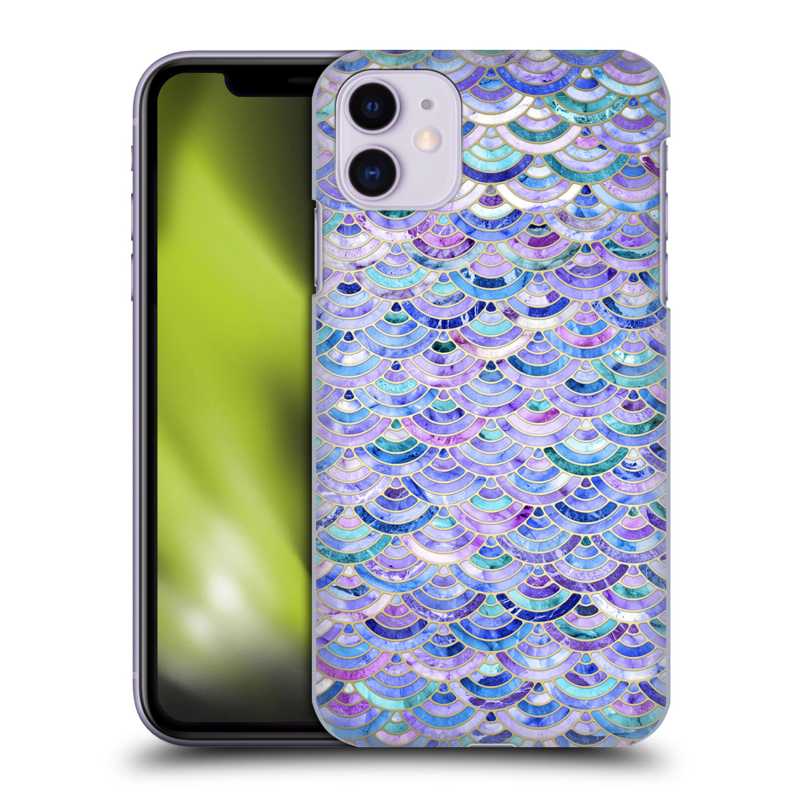 Official Micklyn Le Feuvre Marble Patterns Mosaic In Amethyst And Lapis Lazuli Case for Apple iPhone 11