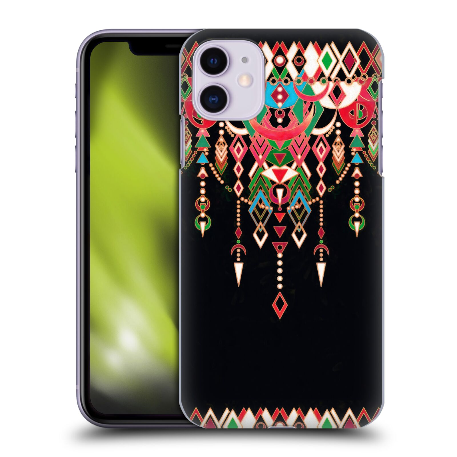 Official Micklyn Le Feuvre Modern Deco Red And Black Case for Apple iPhone 11