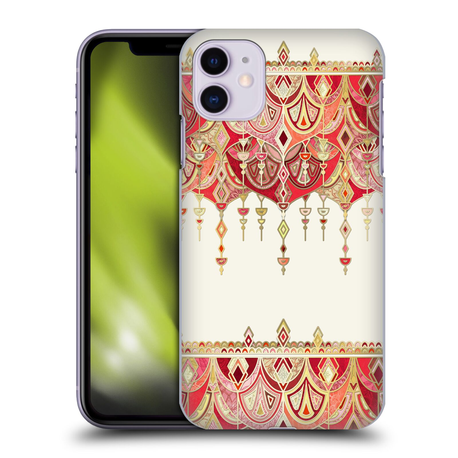 Official Micklyn Le Feuvre Modern Deco Royal Red Art Case for Apple iPhone 11