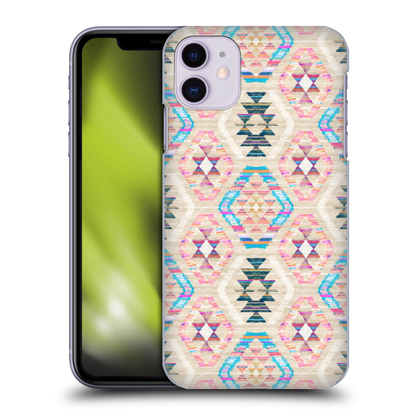 Official Micklyn Le Feuvre Patterns 8 Woven Textured Pastel Kilim Case for Apple iPhone 11