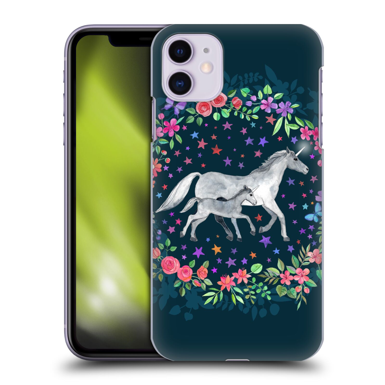 Official Micklyn Le Feuvre Wildlife Unicorn Mama And Baby Case for Apple iPhone 11