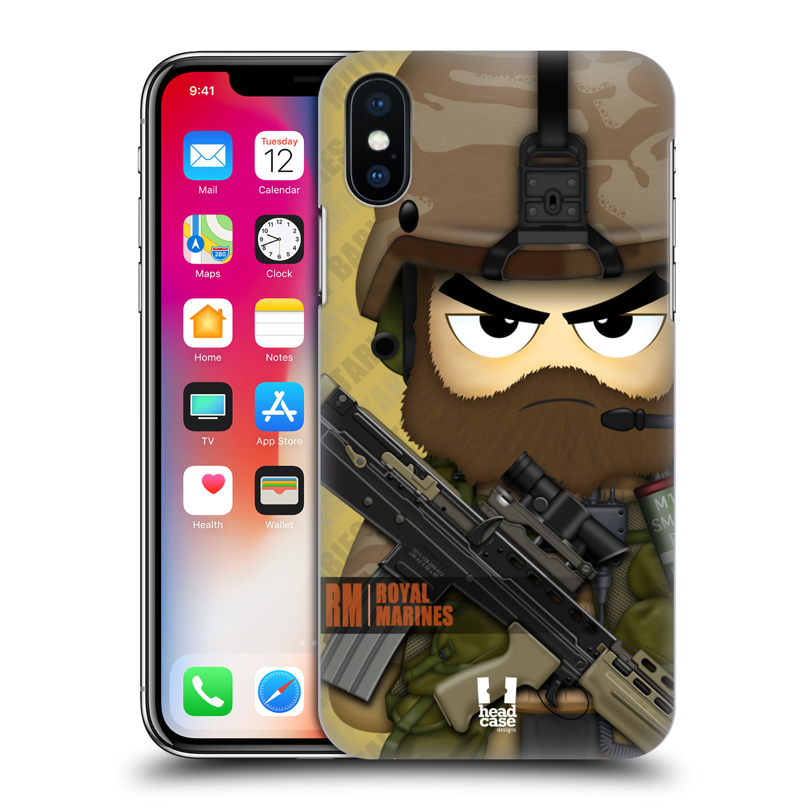 HEAD-CASE-DESIGNS-MILITARY-BABIES-HARD-BACK-CASE-FOR-APPLE-iPHONE-X