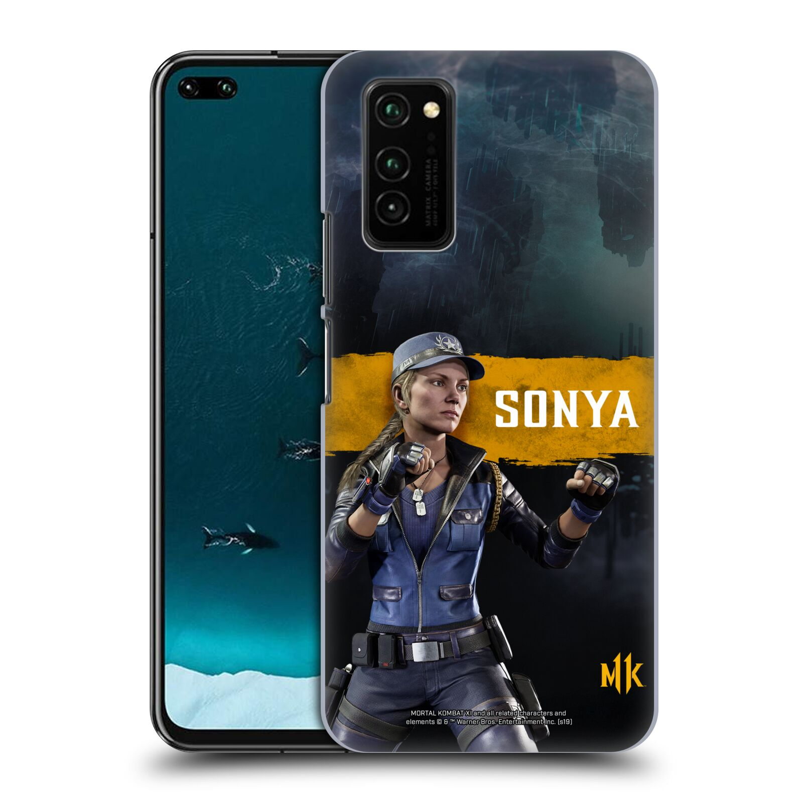 Official Mortal Kombat 11 Characters Sonya Case for Huawei Honor V30 / Honor View 30