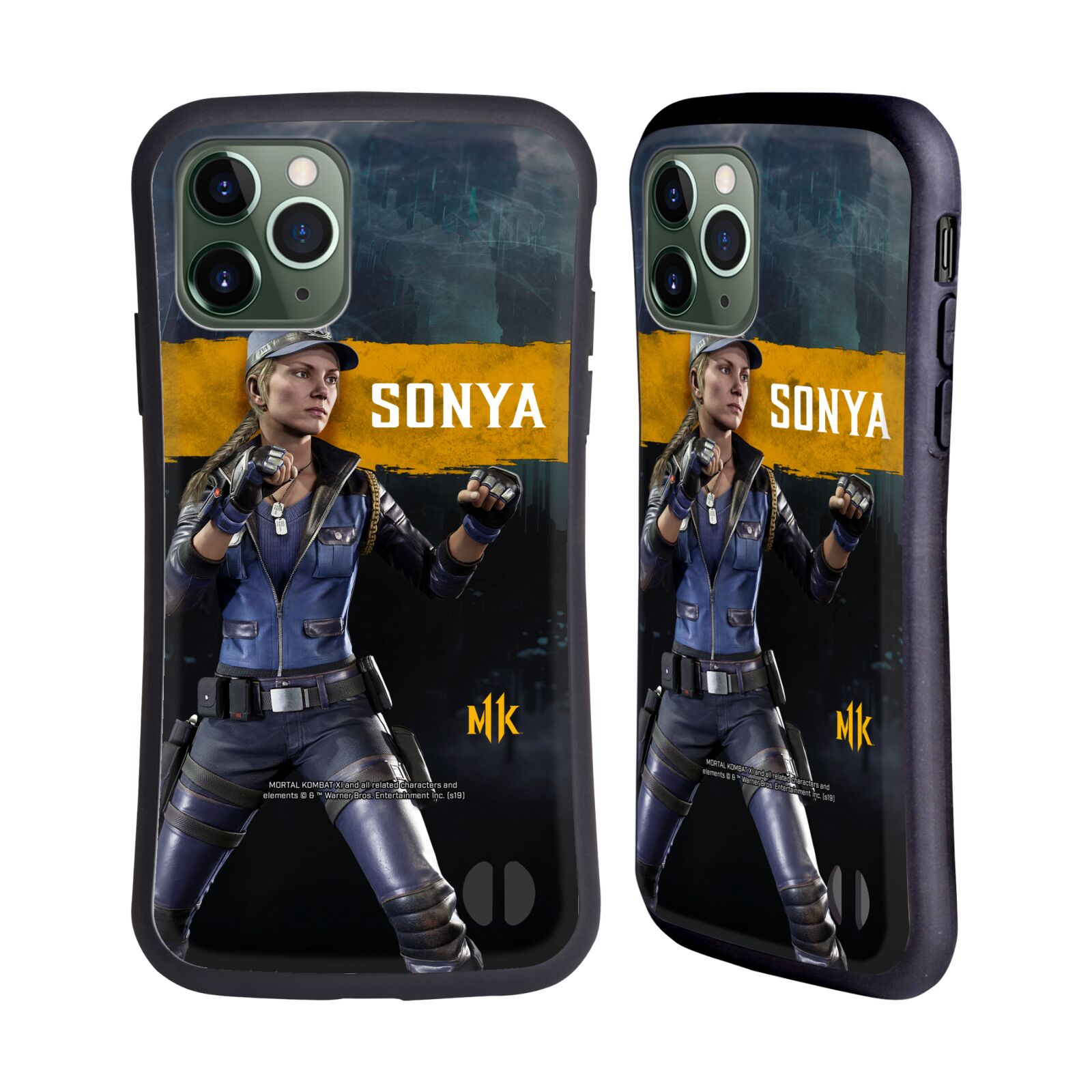 Official Mortal Kombat 11 Characters Sonya Hybrid Case for Apple iPhone 11 Pro