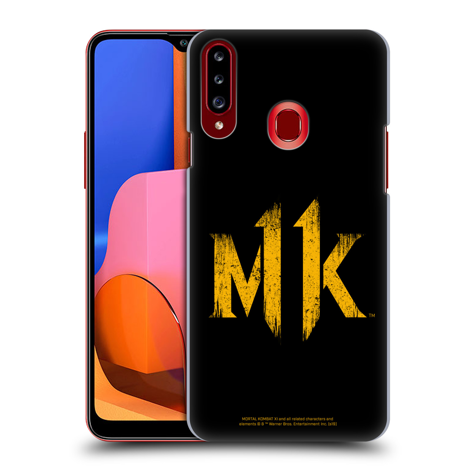 Official Mortal Kombat 11 Logo Art Distressed Look Case for Samsung Galaxy A20s (2019)