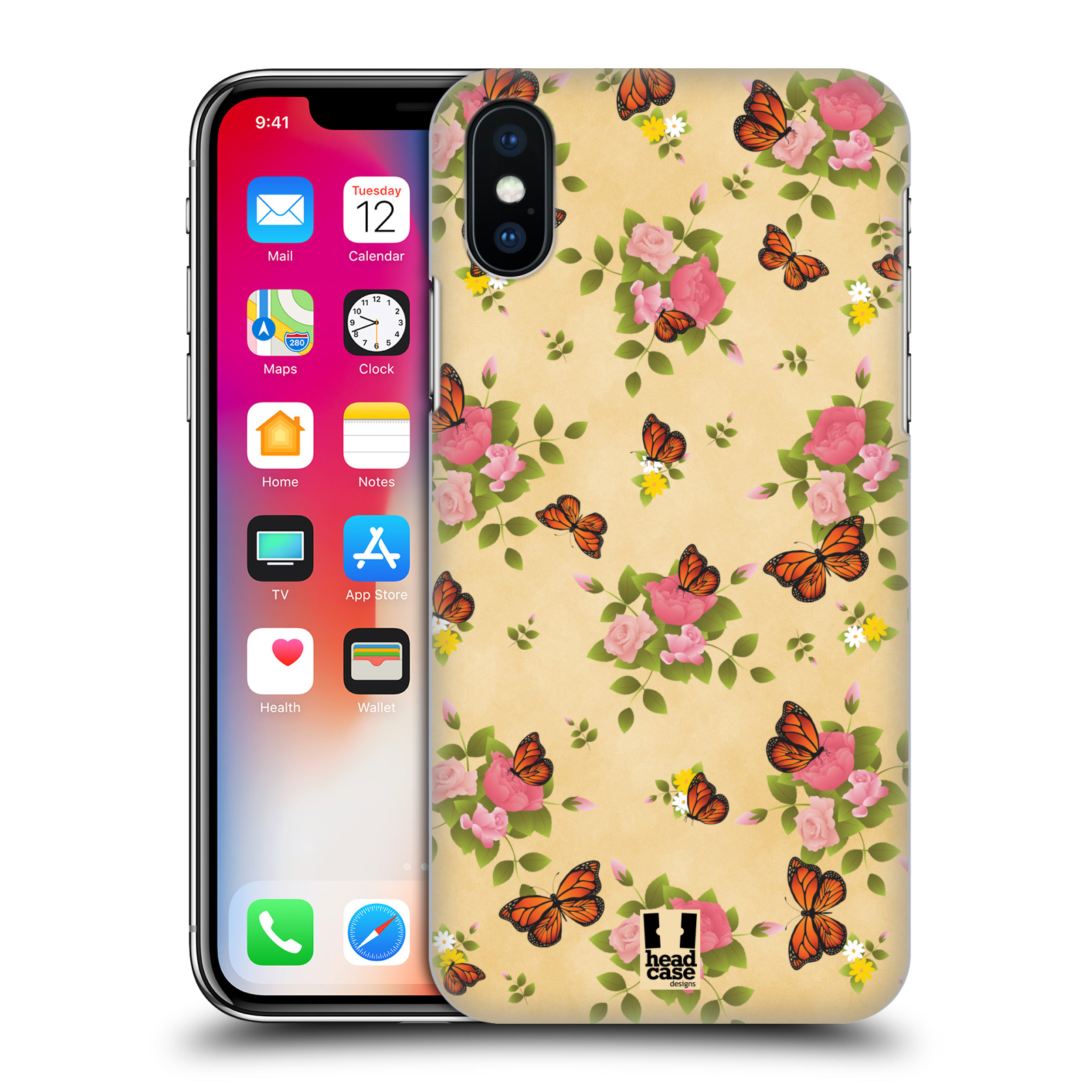 HEAD-CASE-DESIGNS-MONARCH-BUTTERFLY-PRINTS-HARD-BACK-CASE-FOR-APPLE-iPHONE-X