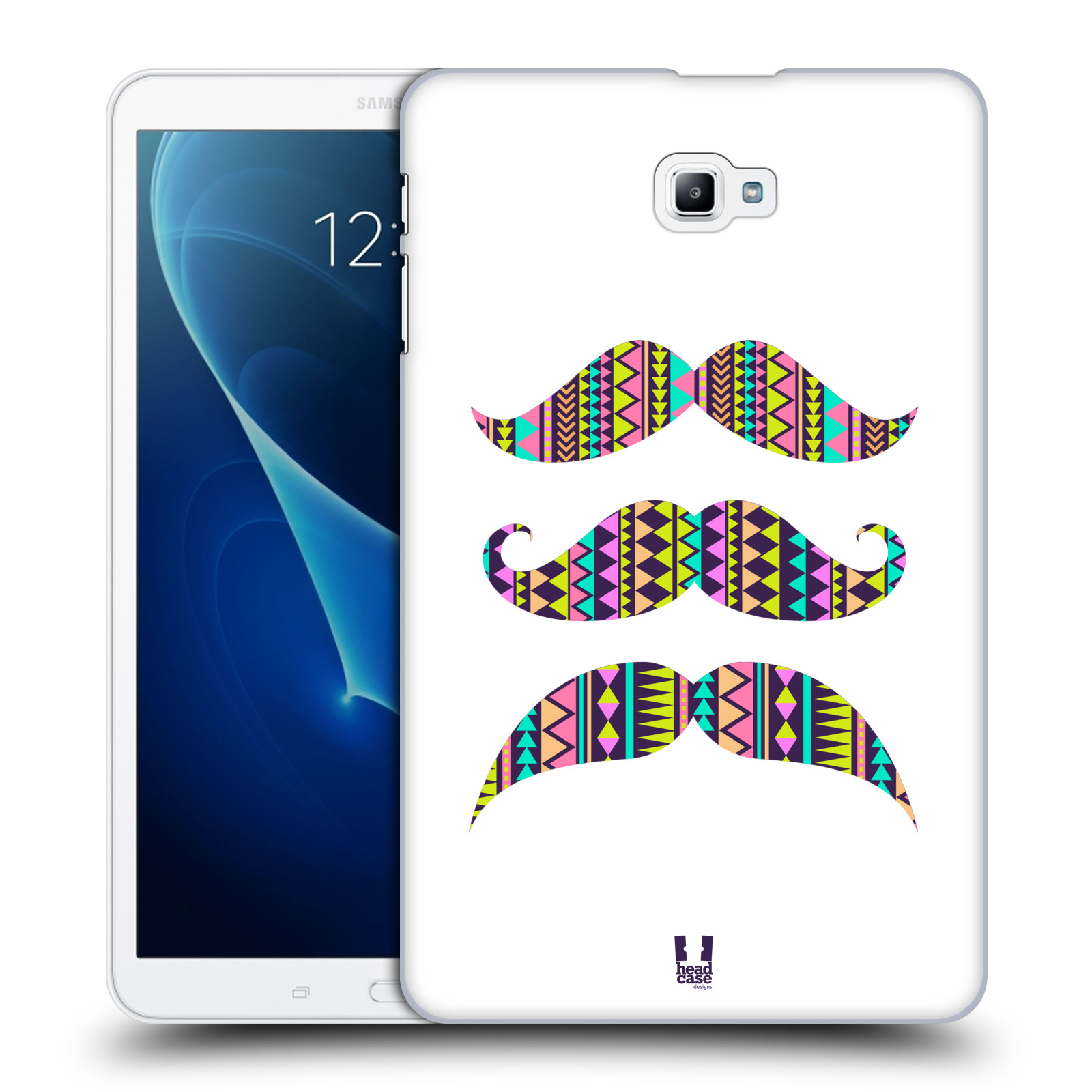 Head Case Designs Aztec White Moustaches Hard Back Cover For Samsung T111 Galaxy Tab 3 Lite Picture 8 Of