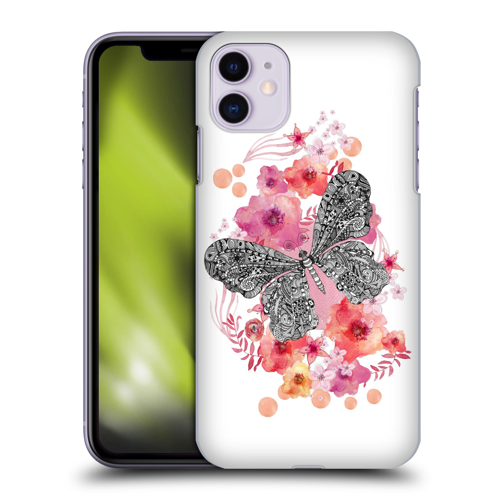 Official Monika Strigel Animals And Flowers Butterfly Case for Apple iPhone 11