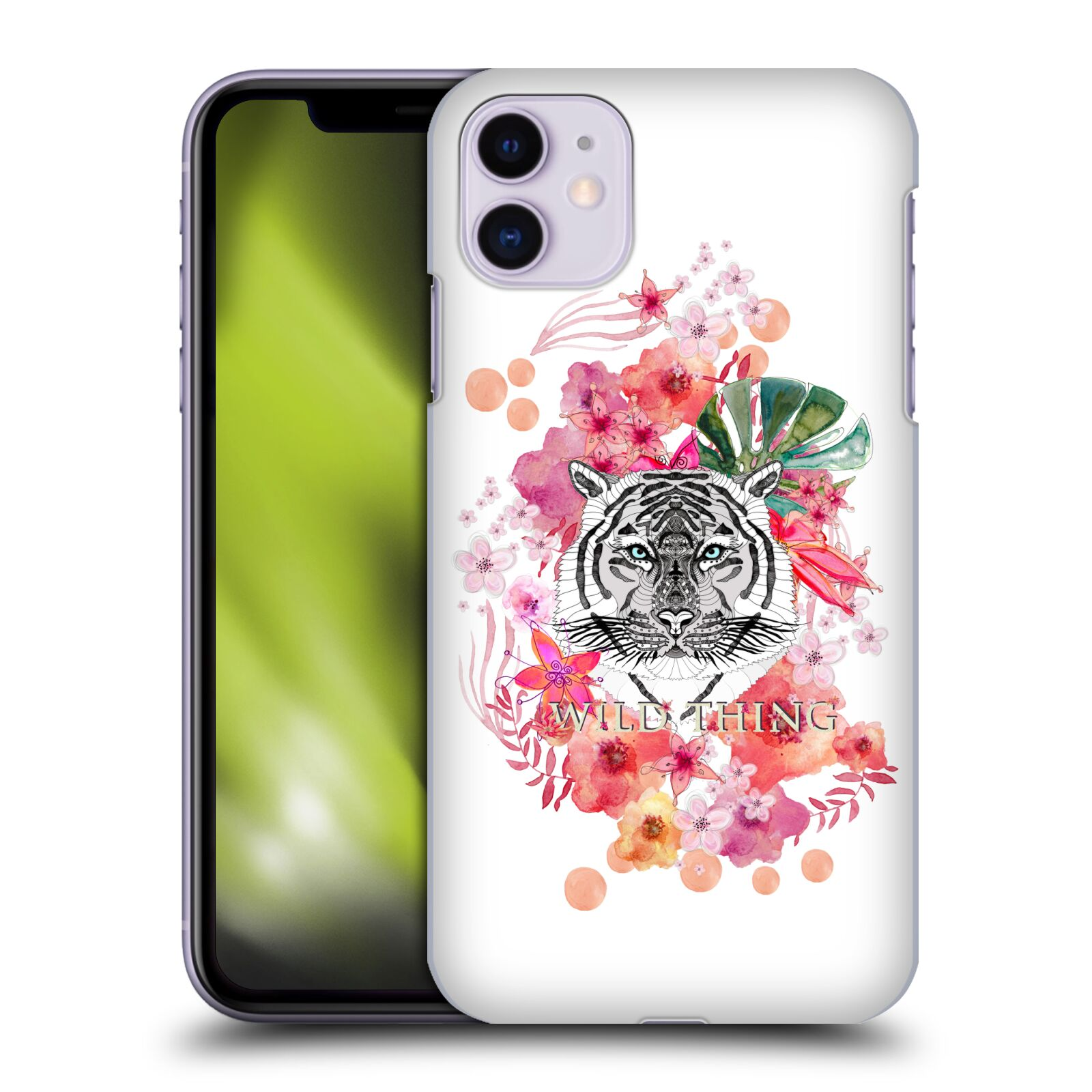 Official Monika Strigel Animals And Flowers Tiger Case for Apple iPhone 11