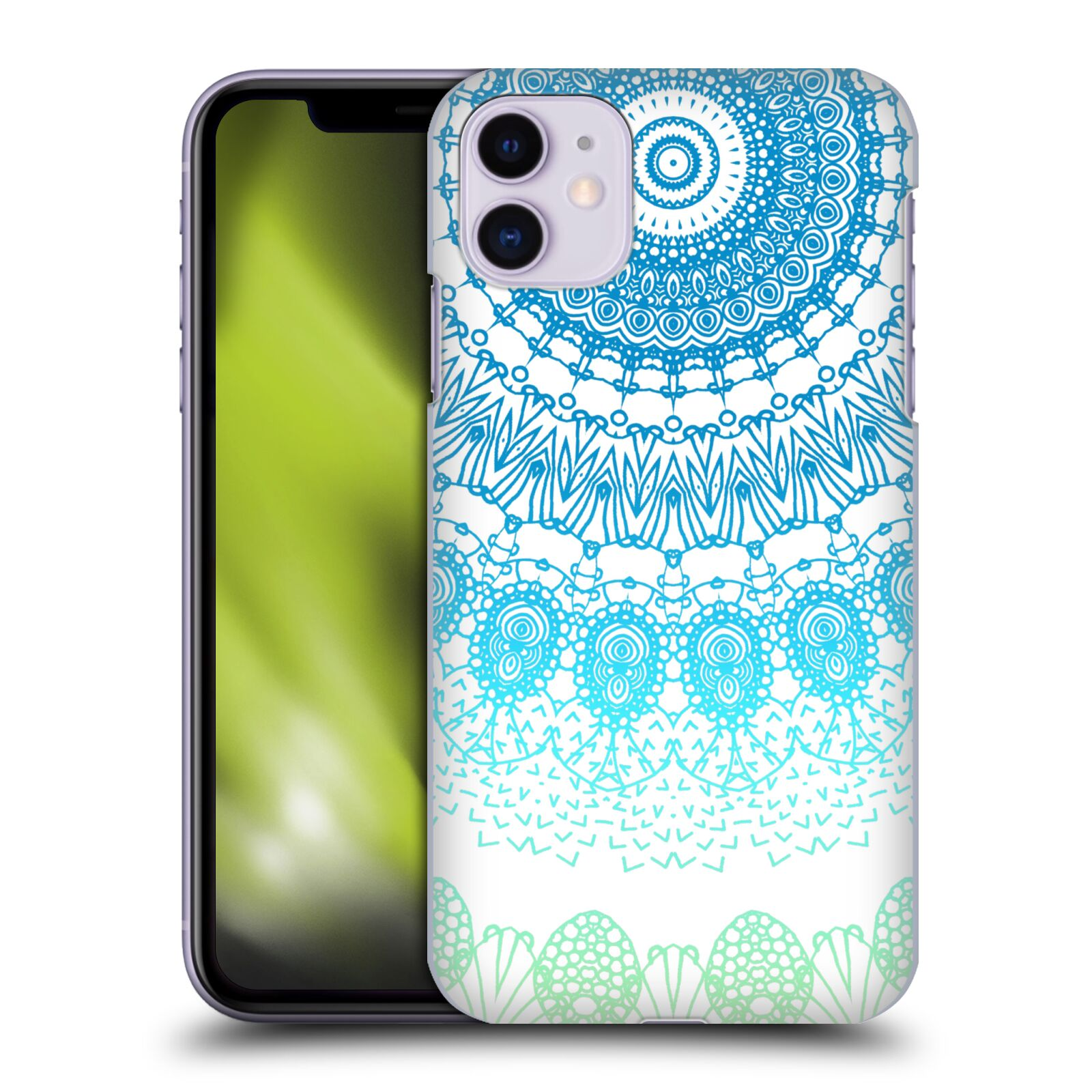 Official Monika Strigel Boho Lace Ombre Blue Case for Apple iPhone 11