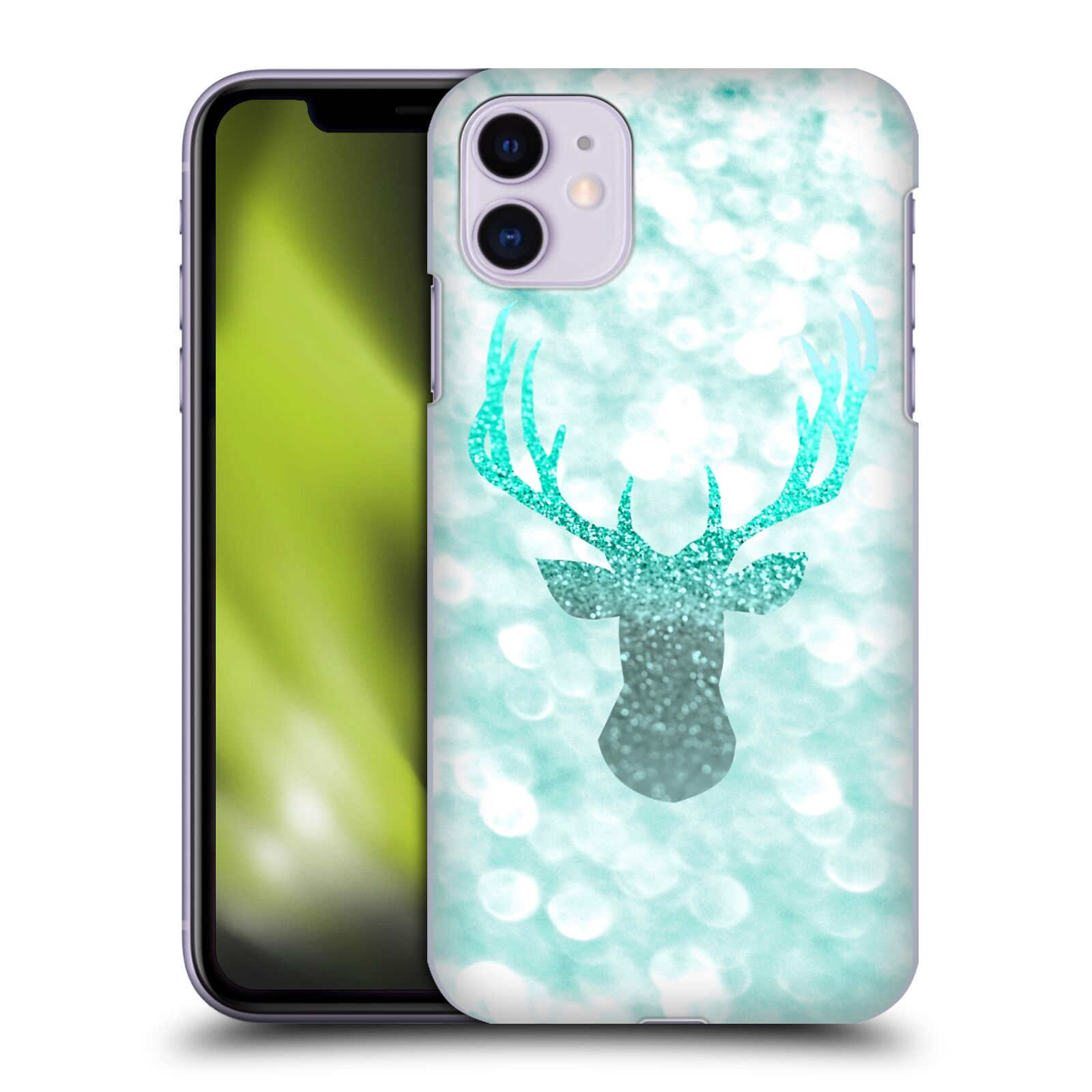 Official Monika Strigel Champagne Glitters 1 Deer Mint Case for Apple iPhone 11