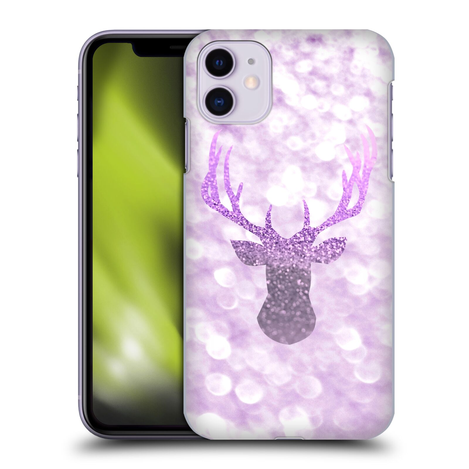 Official Monika Strigel Champagne Glitters 1 Deer Purple Case for Apple iPhone 11