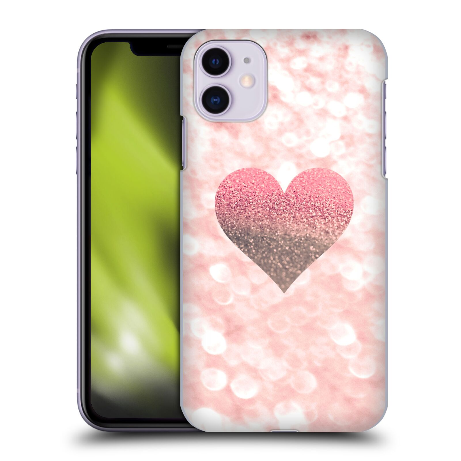 Official Monika Strigel Champagne Glitters 2 Heart Rose Case for Apple iPhone 11