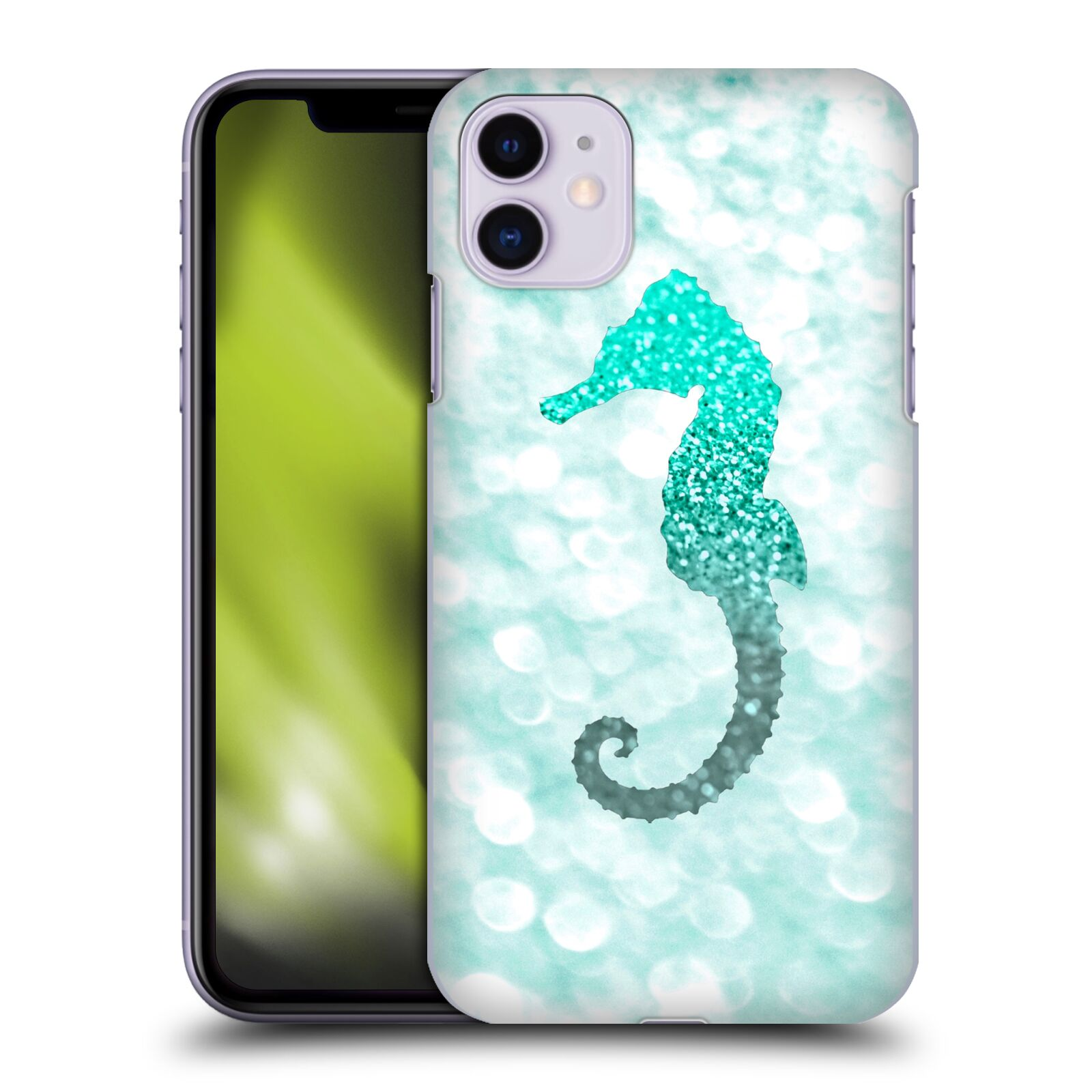 Official Monika Strigel Champagne Glitters 2 Seahorse Mint Case for Apple iPhone 11