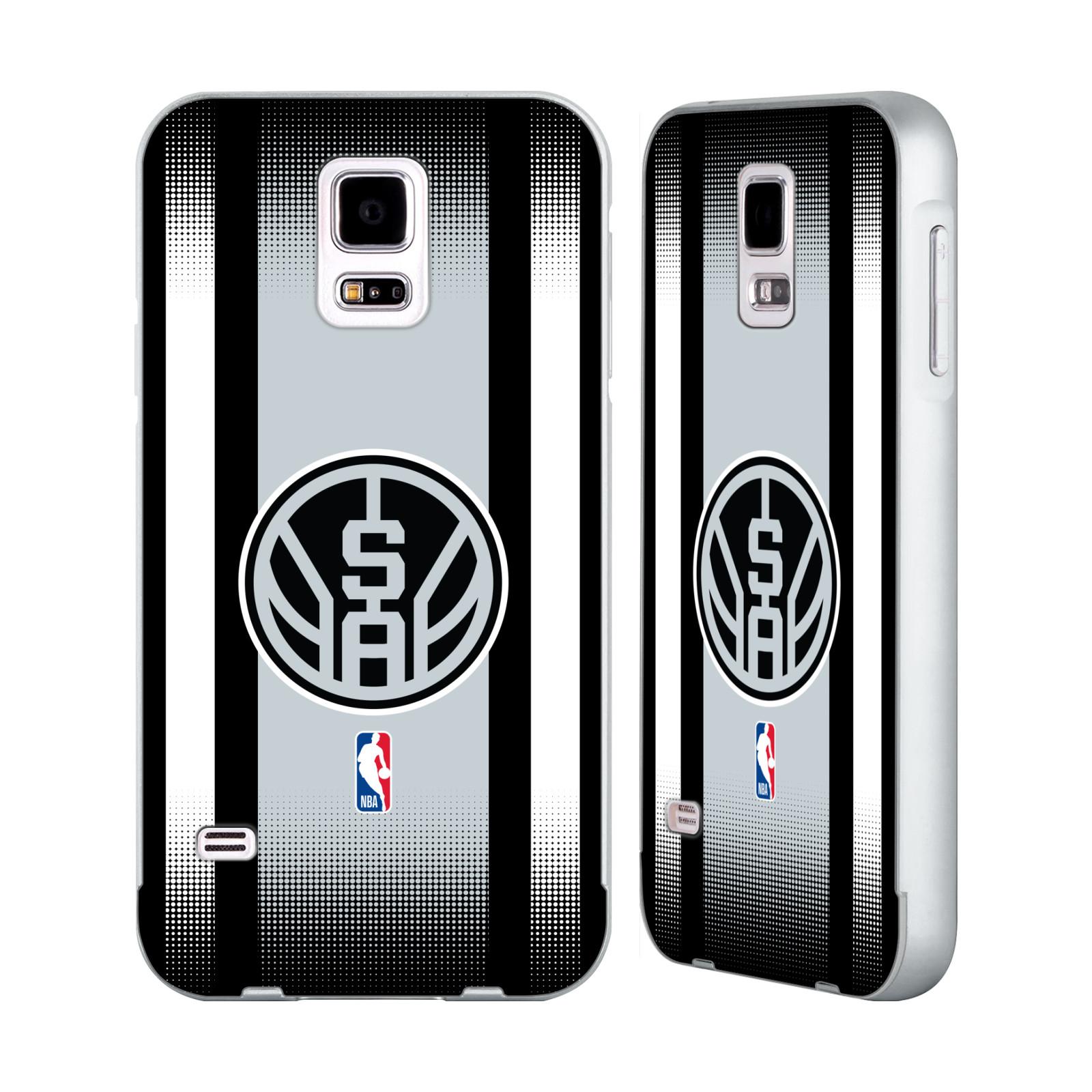 UFFICIALE-NBA-SAN-ANTONIO-SPURS-ARGENTO-COVER-CONTORNO-PER-SAMSUNG-TELEFONI