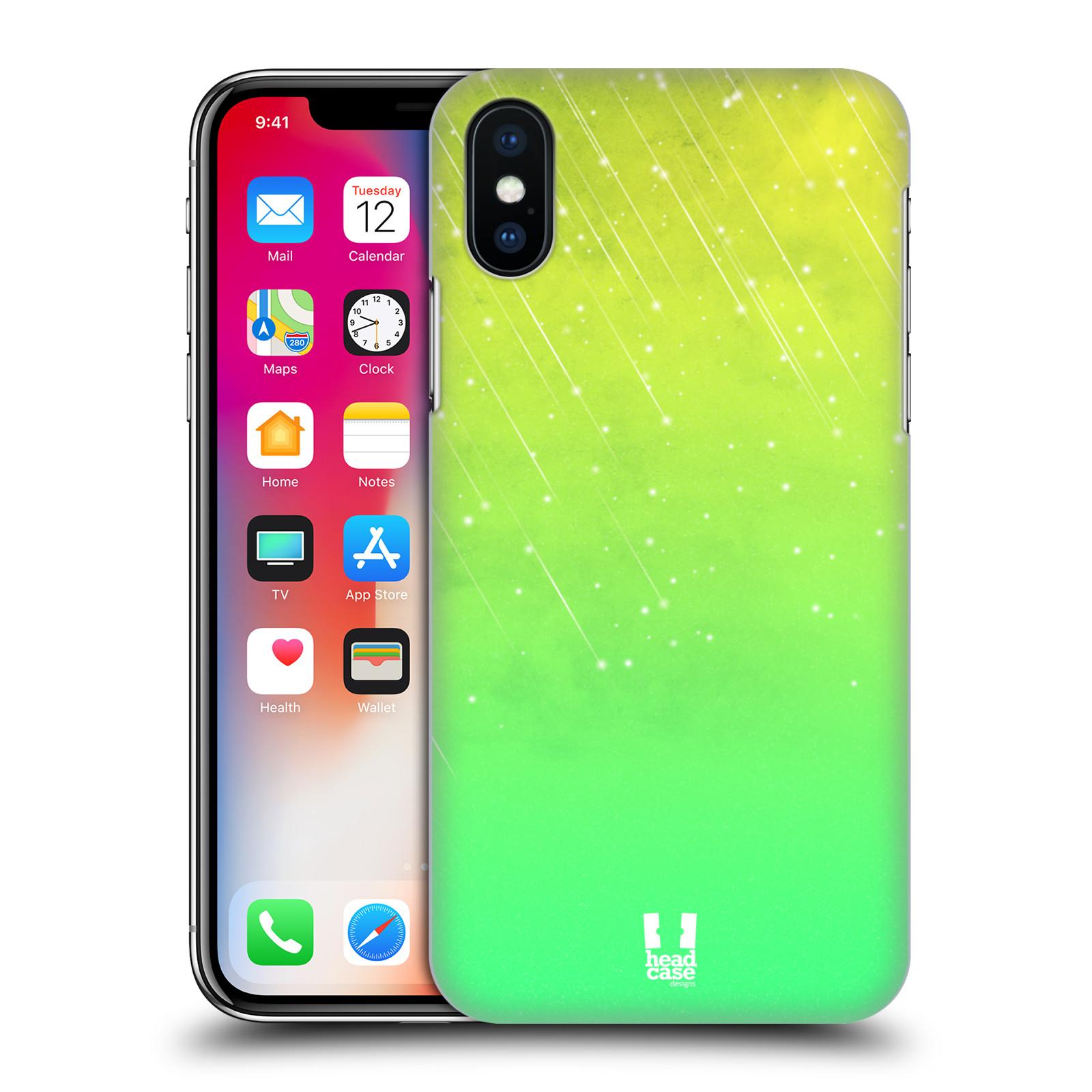 HEAD-CASE-DESIGNS-NEON-RAIN-OMBRE-HARD-BACK-CASE-FOR-APPLE-iPHONE-X