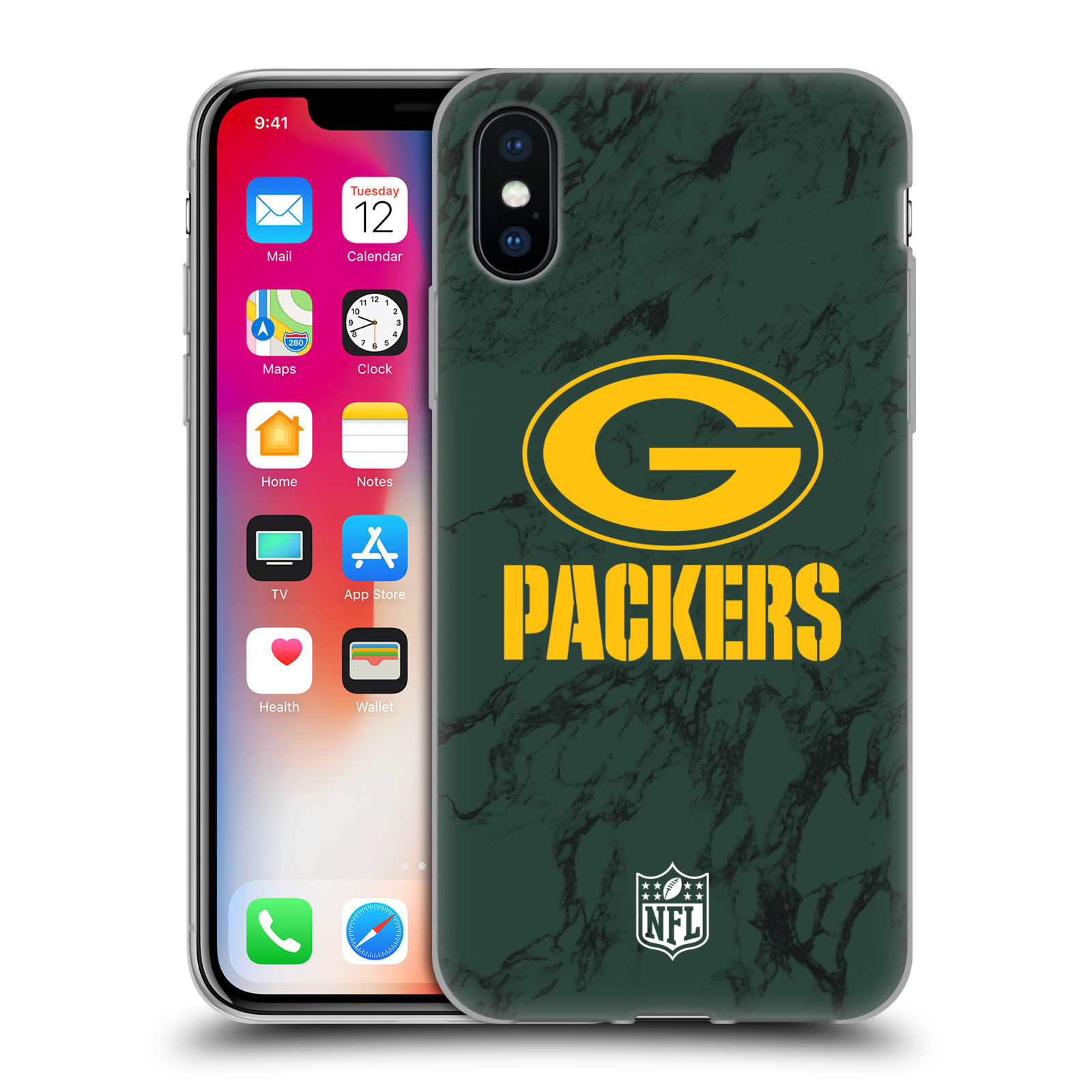 UFFICIALE-NFL-2018-19-GREEN-BAY-PACKERS-CASE-IN-GEL-PER-APPLE-iPHONE-TELEFONI