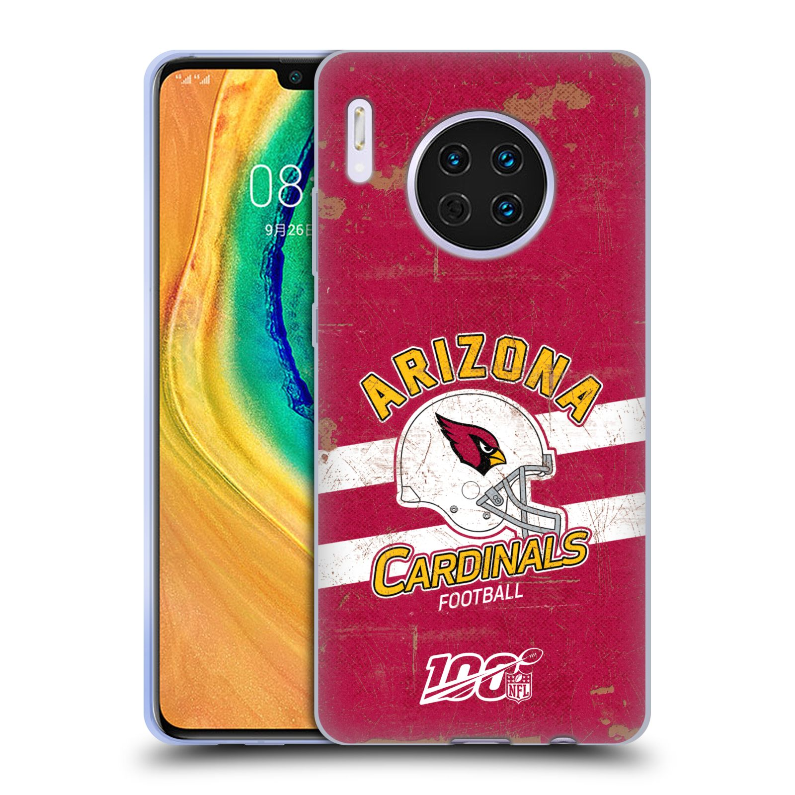 Official NFL 2019/20 Arizona Cardinals Helmet Distressed Look 100th Case for Huawei Mate 30