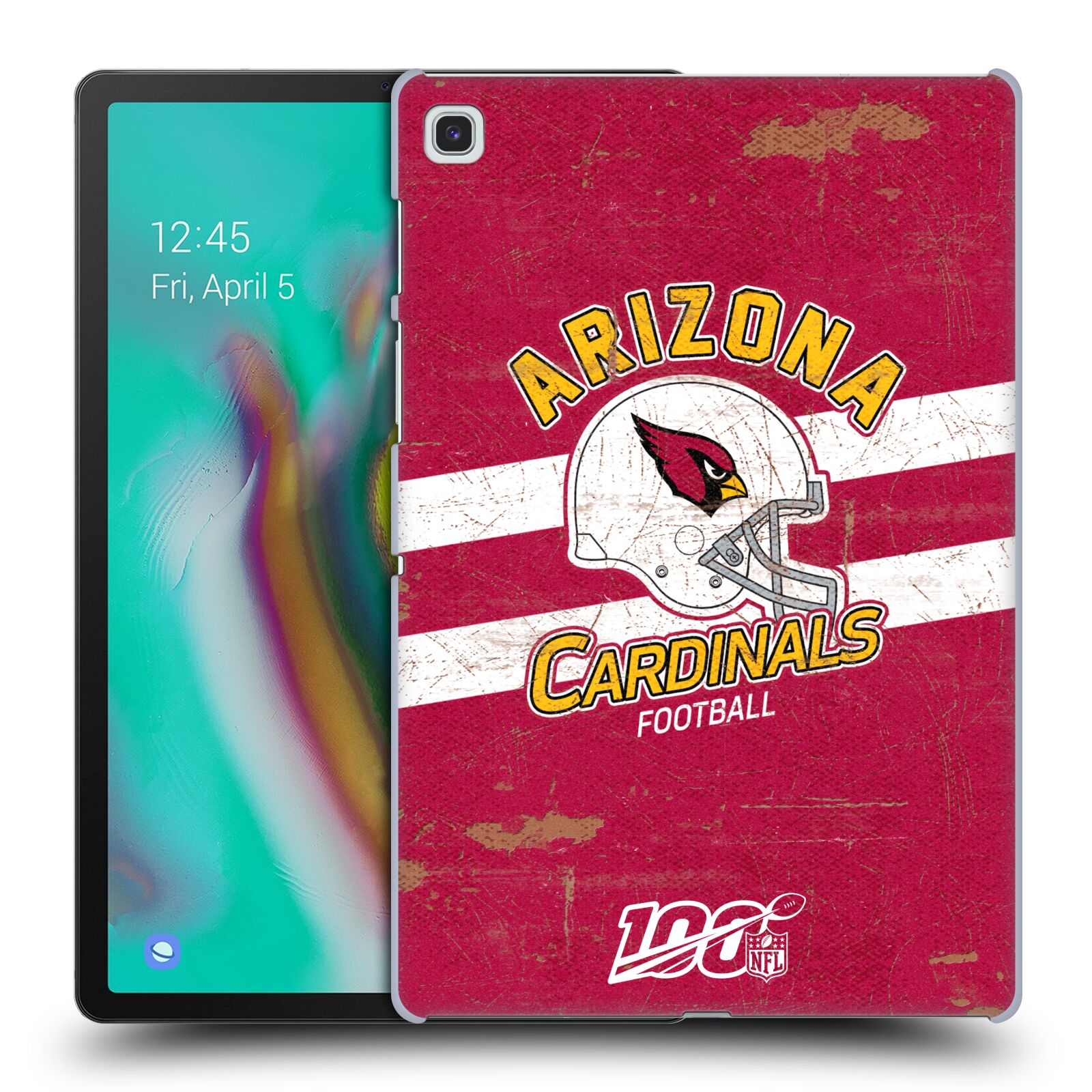 Official NFL 2019/20 Arizona Cardinals Helmet Distressed Look 100th Case for Samsung Galaxy Tab S5e