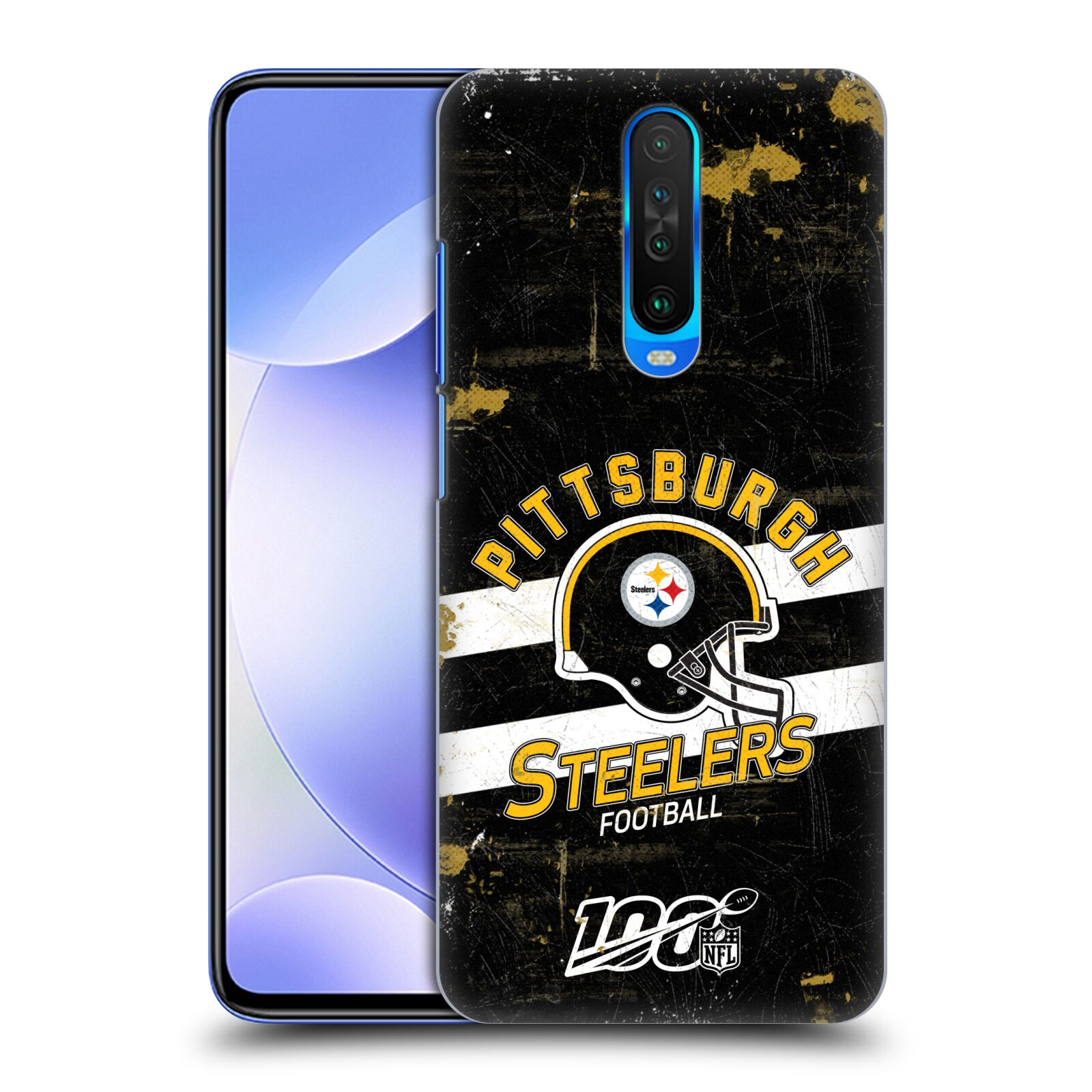 Official NFL 2019/20 Pittsburgh Steelers Helmet Distressed Look 100th Case for Xiaomi Redmi K30 / 5G