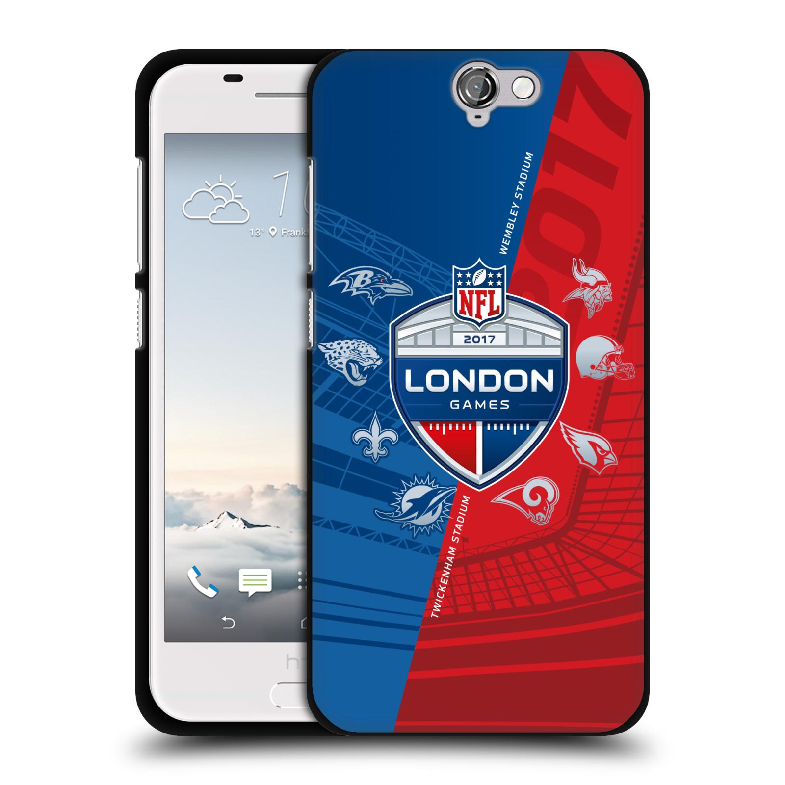 UFFICIALE-NFL-2017-LONDON-GAMES-TOURS-COVER-IN-MORBIDO-GEL-NERA-PER-HTC-TELEFONI