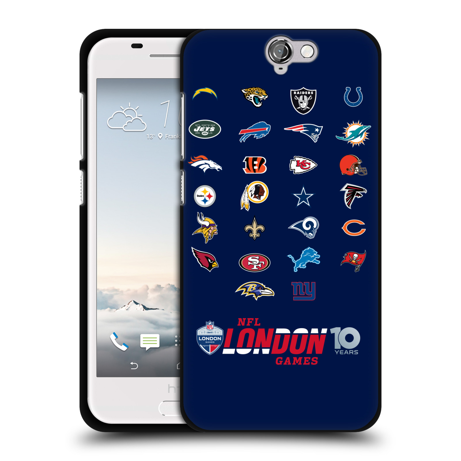 OFFICIAL-NFL-2017-LONDON-GAMES-10-YEARS-BLACK-SOFT-GEL-CASE-FOR-HTC-PHONES