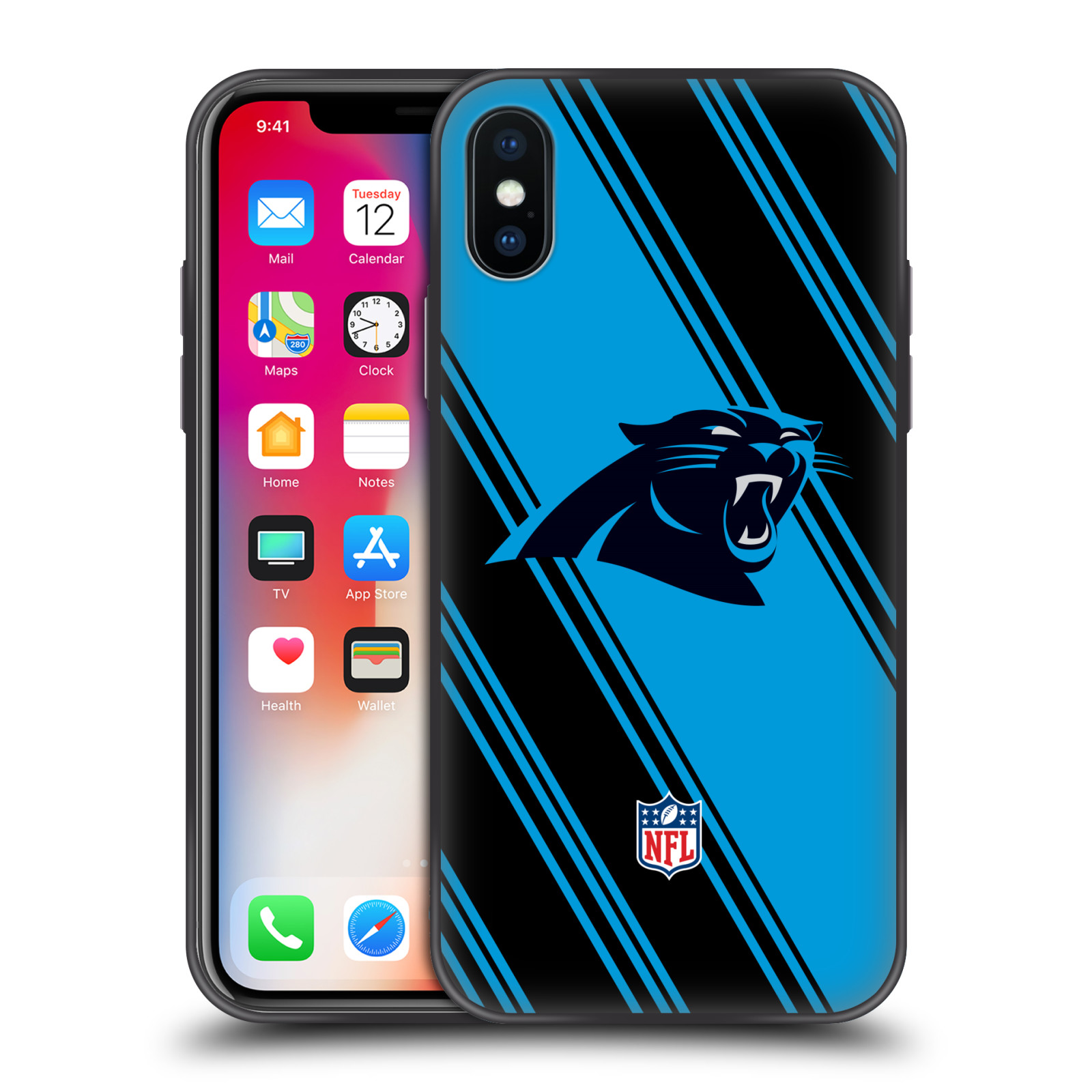 NFL-2017-18-CAROLINA-PANTHERS-HYBRID-CLEAR-CASE-FOR-iPHONE-HUAWEI-SAMSUNG-PHONES