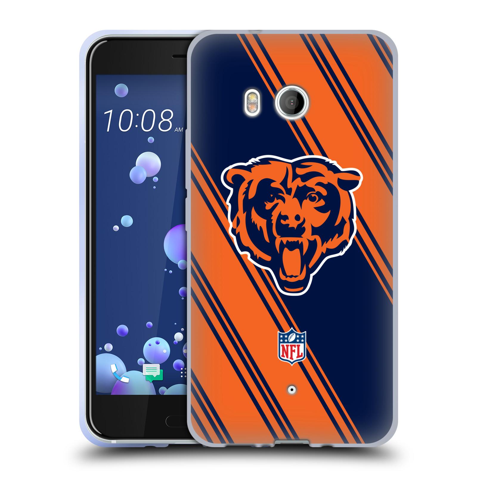 Oficial-de-la-NFL-2017-18-Chicago-Bears-caso-De-Gel-Suave-para-TELEFONOS-HTC-1