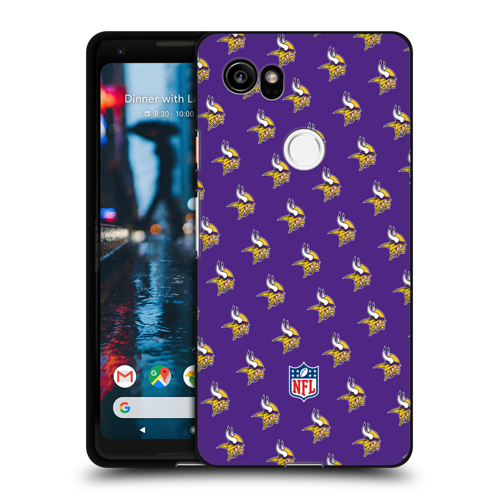 Oficial-de-la-NFL-2017-18-Minnesota-Vikings-Negro-suave-Gel-caso-para-telefonos-de-Google