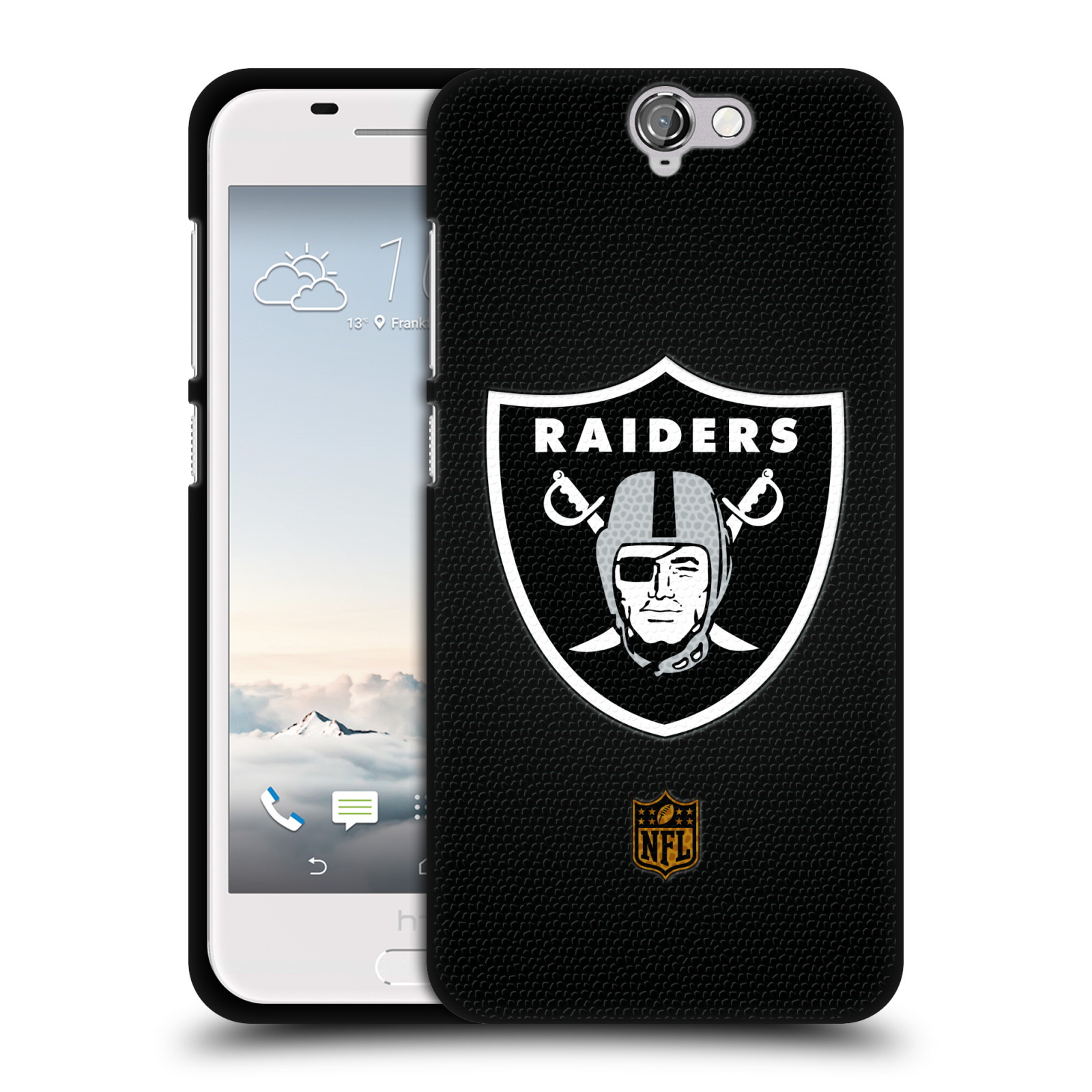 OFFICIAL-NFL-OAKLAND-RAIDERS-LOGO-BLACK-SOFT-GEL-CASE-FOR-HTC-PHONES