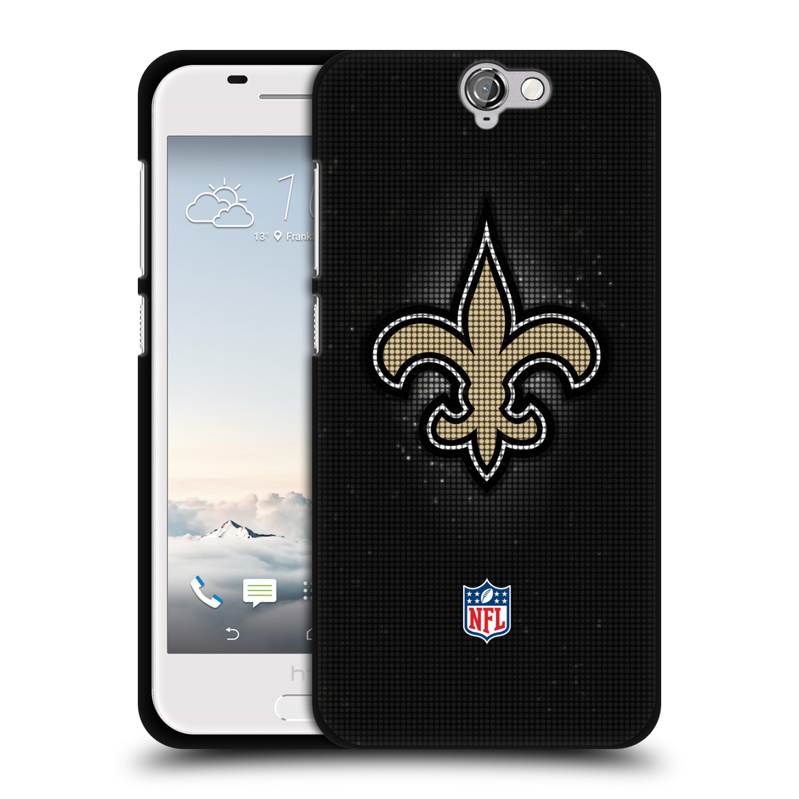 OFFICIAL-NFL-2017-18-NEW-ORLEANS-SAINTS-BLACK-SOFT-GEL-CASE-FOR-HTC-PHONES