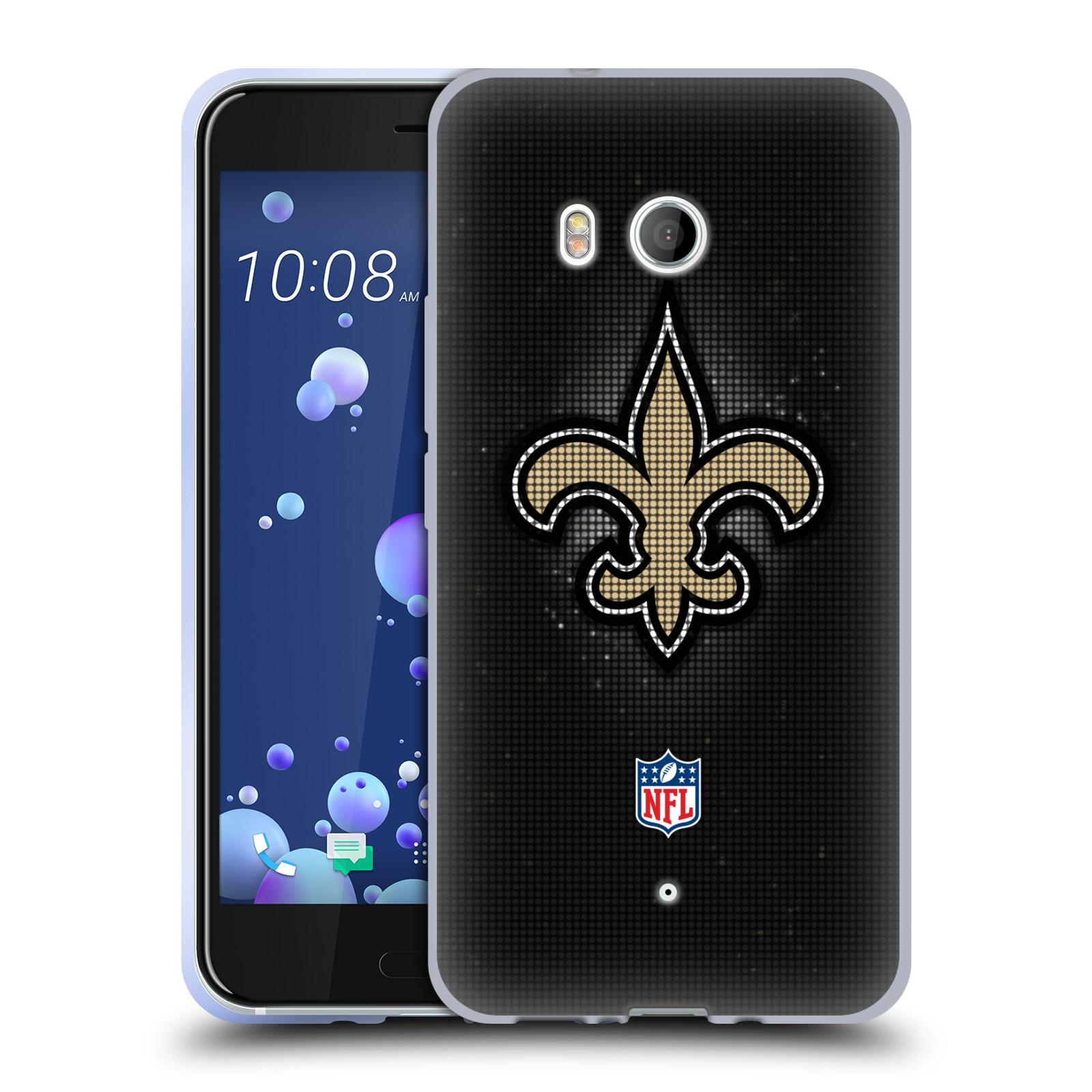 Oficial-de-la-NFL-2017-18-New-Orleans-Saints-caso-De-Gel-Suave-para-TELEFONOS-HTC-1