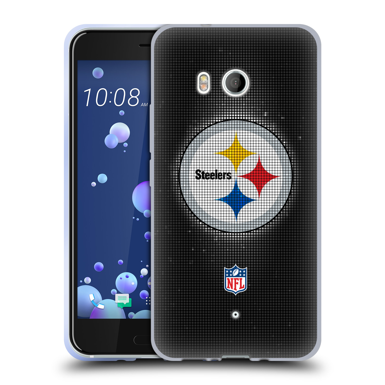 Oficial-de-la-NFL-2017-18-Pittsburgh-Steelers-caso-De-Gel-Suave-para-TELEFONOS-HTC-1