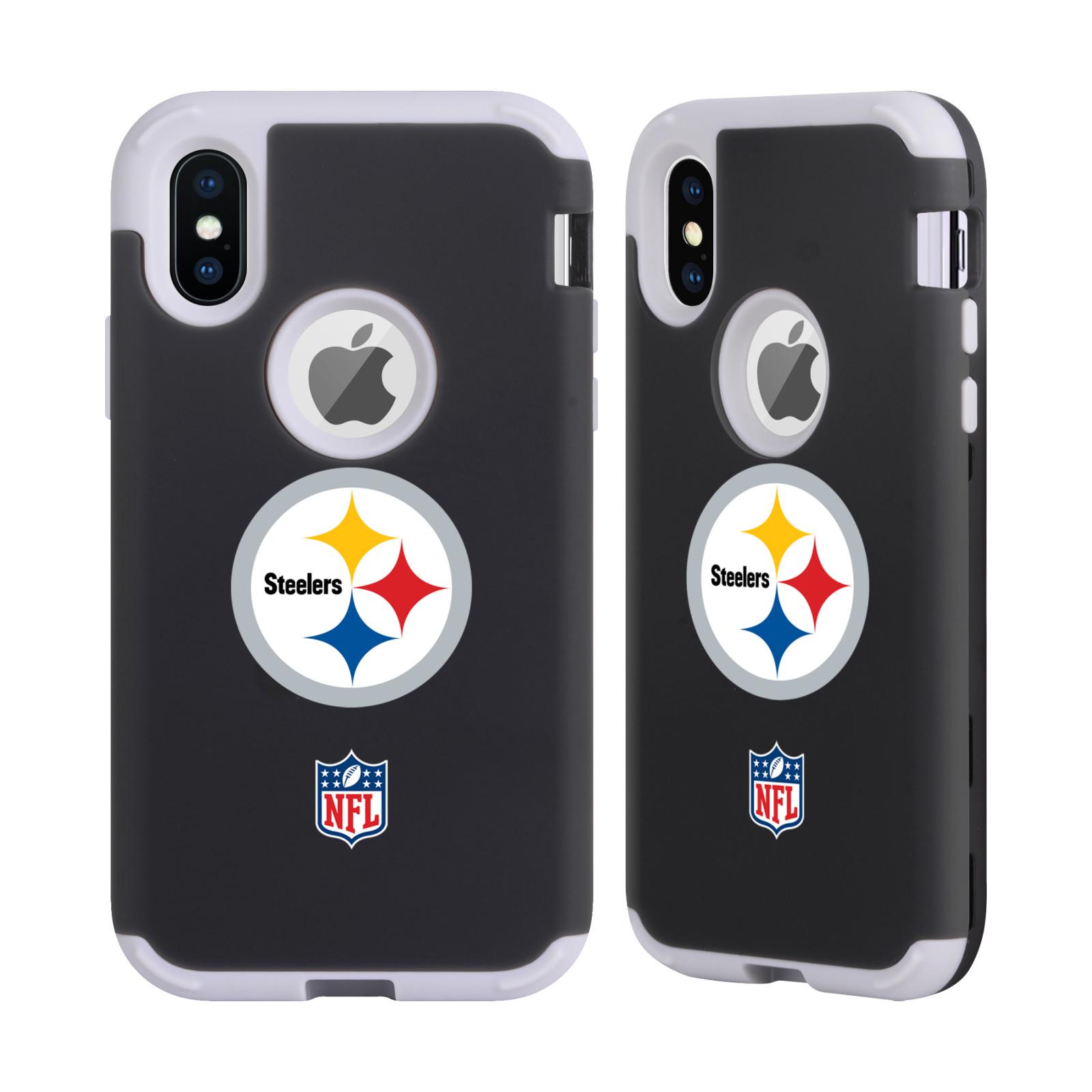 NFL-PITTSBURGH-STEELERS-LOGO-2-GREY-SENTRY-CASE-FOR-APPLE-iPHONE-SAMSUNG-PHONES