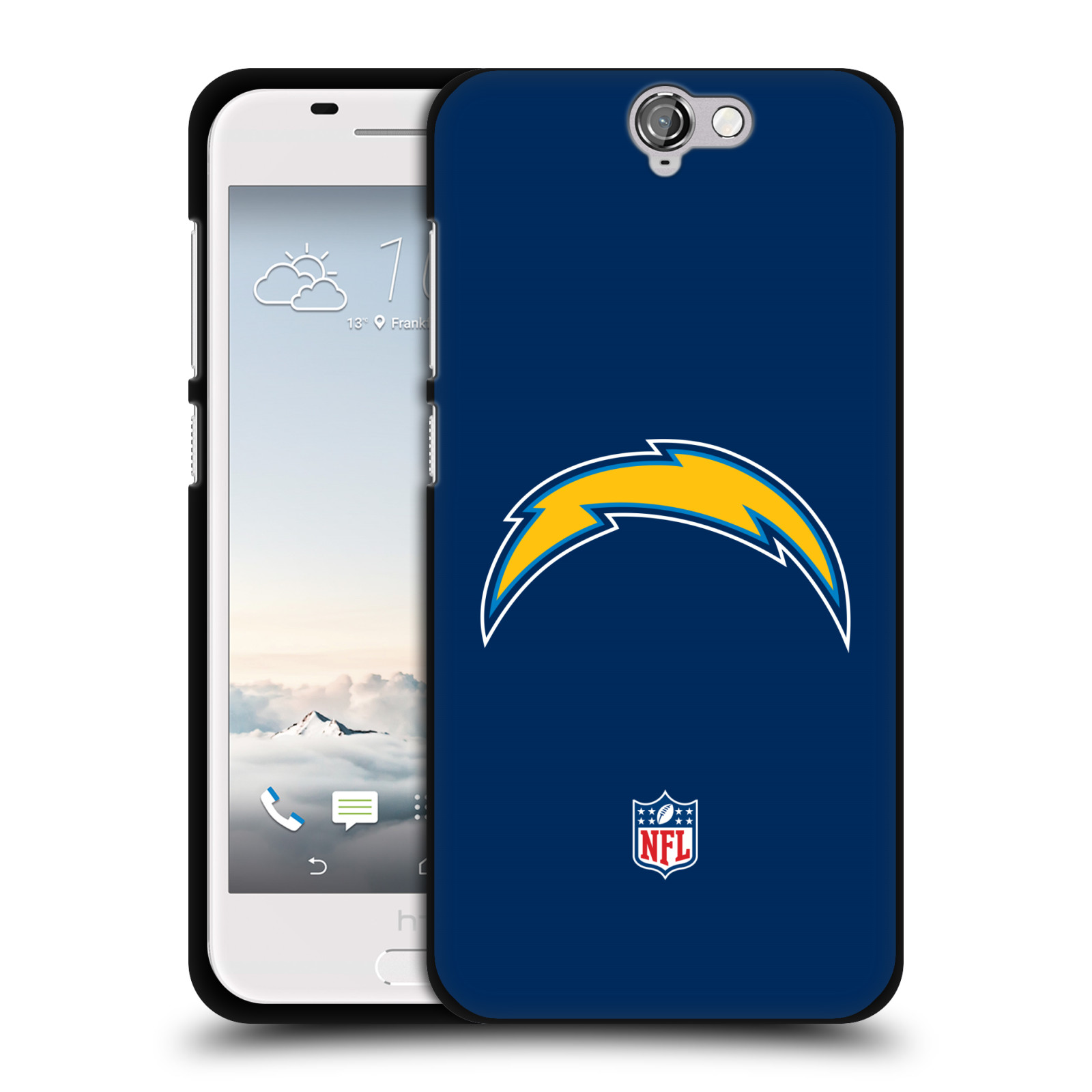 OFFICIAL-NFL-LOS-ANGELES-CHARGERS-LOGO-BLACK-SOFT-GEL-CASE-FOR-HTC-PHONES