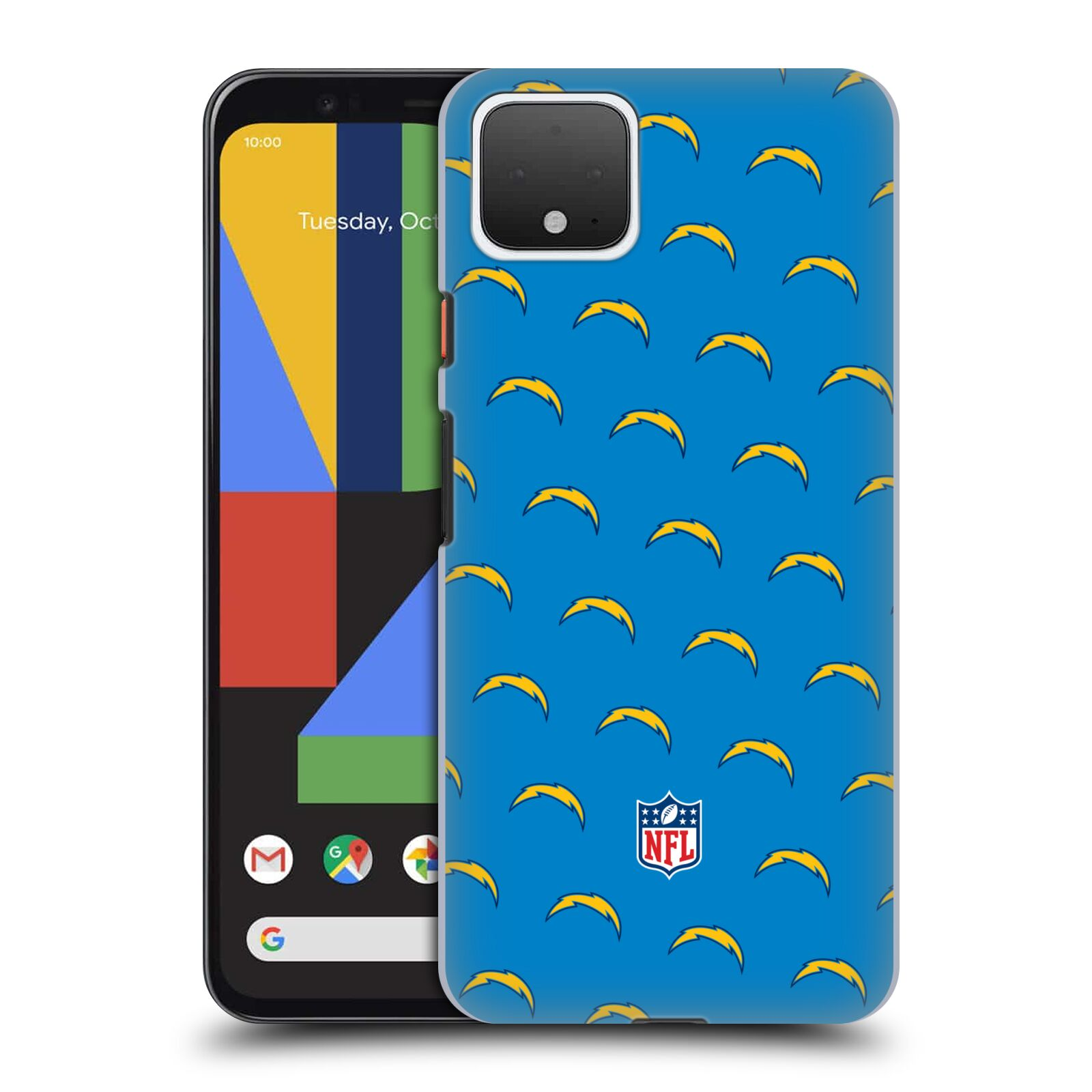 Official NFL 2017/18 Los Angeles Chargers Patterns Case for Google Pixel 4