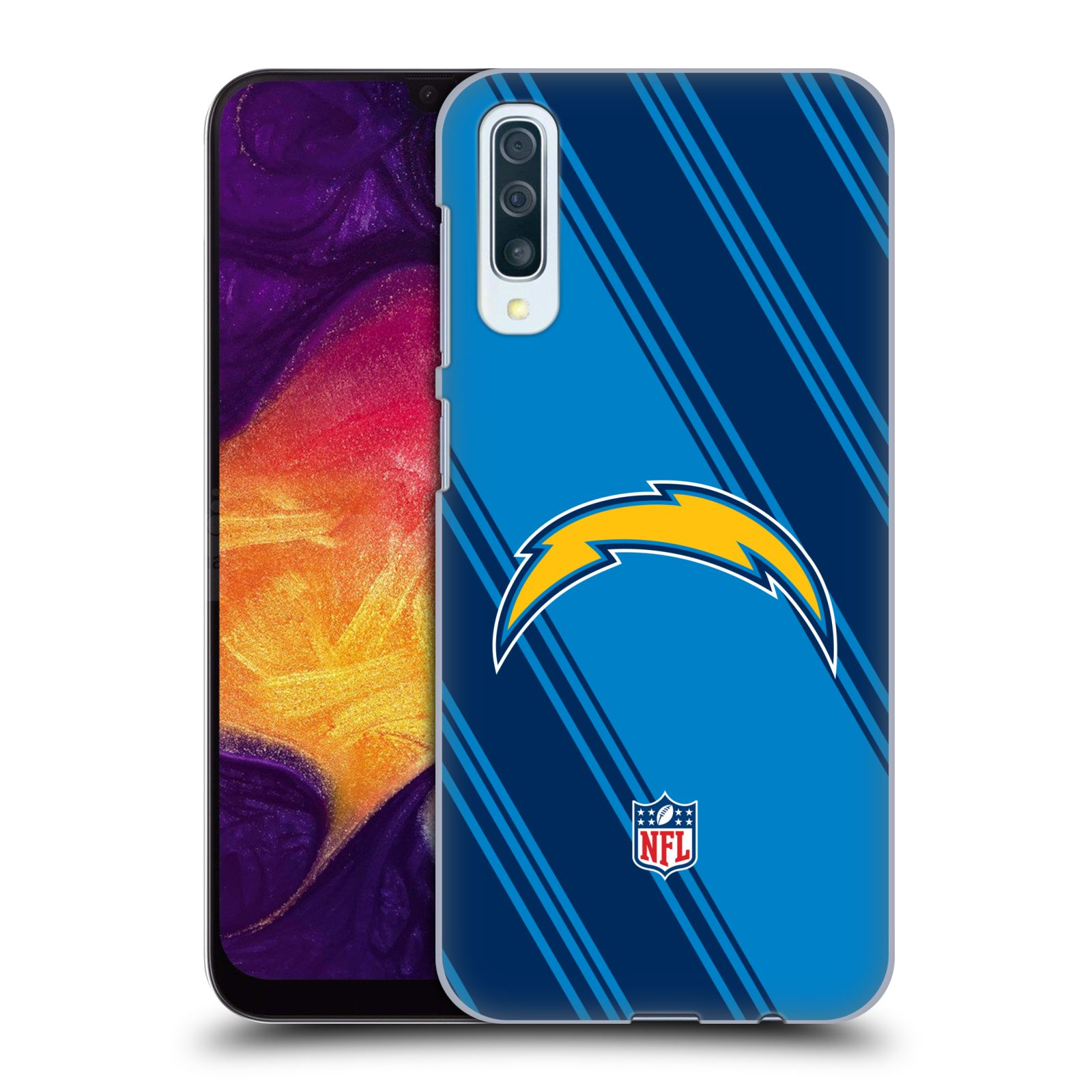 Official NFL 2017/18 Los Angeles Chargers Stripes Case for Samsung Galaxy A50/A30s (2019)