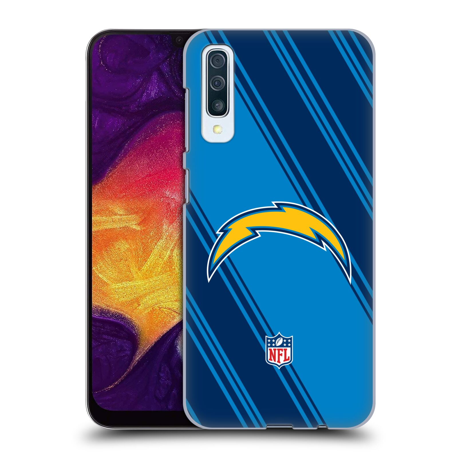 Official NFL 2017/18 Los Angeles Chargers Stripes Case for Samsung Galaxy A50s (2019)
