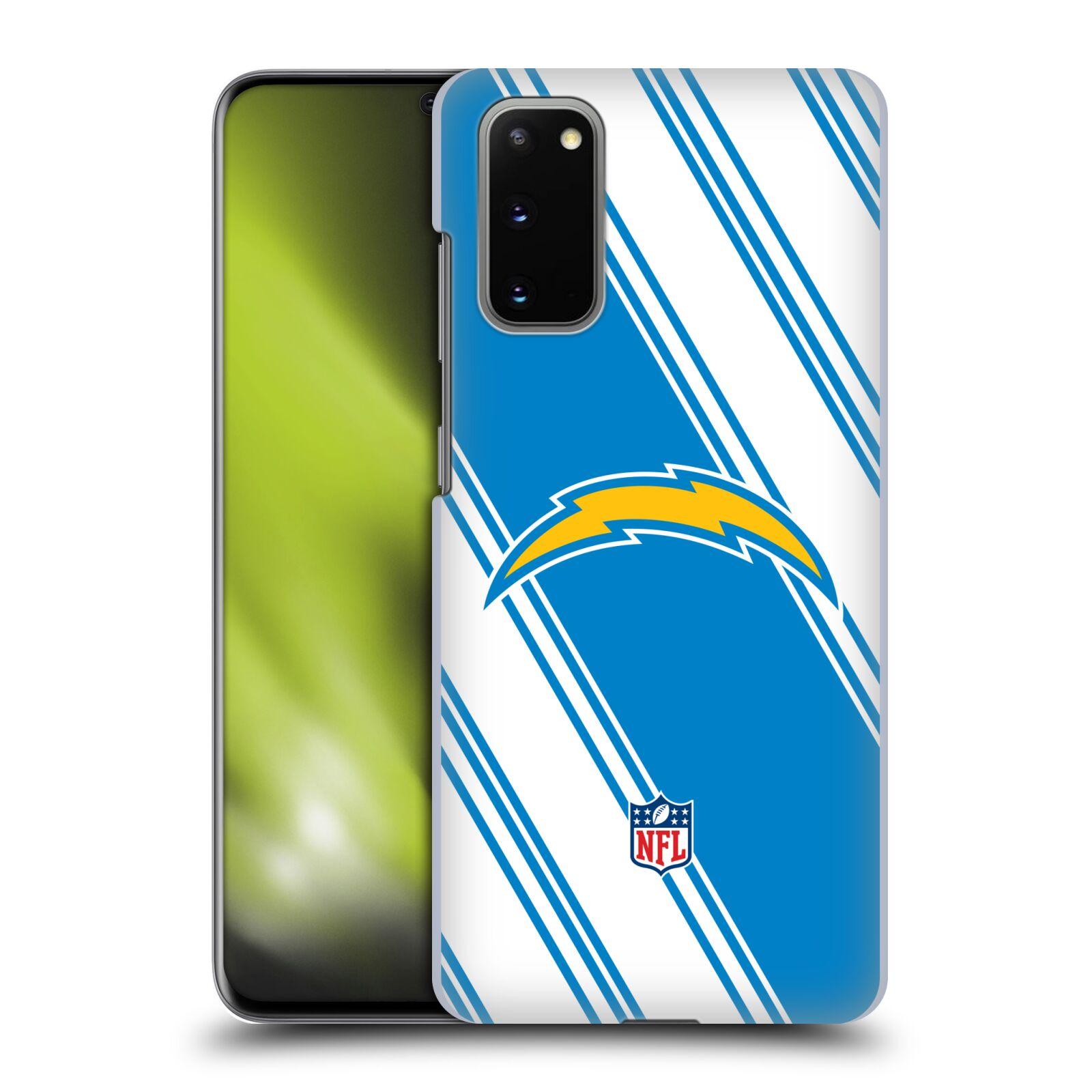 Official NFL 2017/18 Los Angeles Chargers Stripes Case for Samsung Galaxy S20 / S20 5G