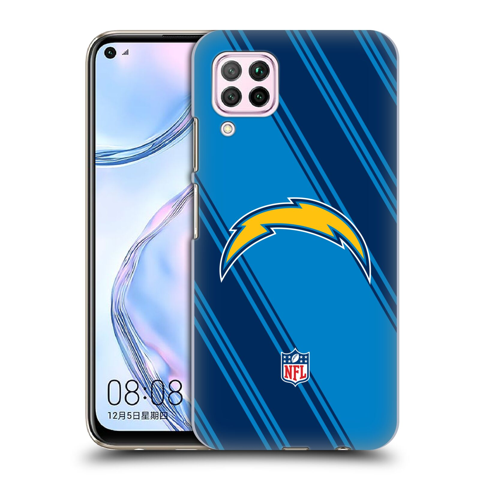 Official NFL 2017/18 Los Angeles Chargers Stripes Case for Huawei Nova 6 SE