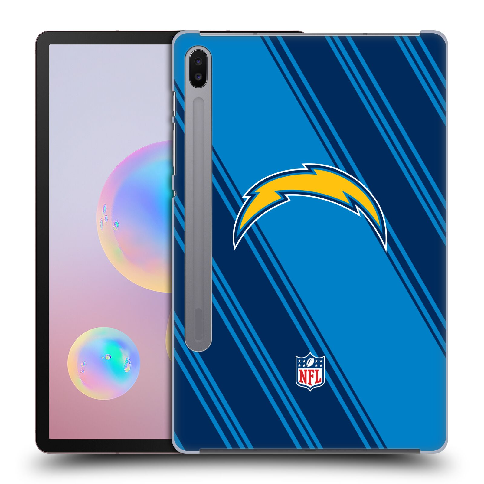 Official NFL 2017/18 Los Angeles Chargers Stripes Case for Samsung Galaxy Tab S6 (2019)