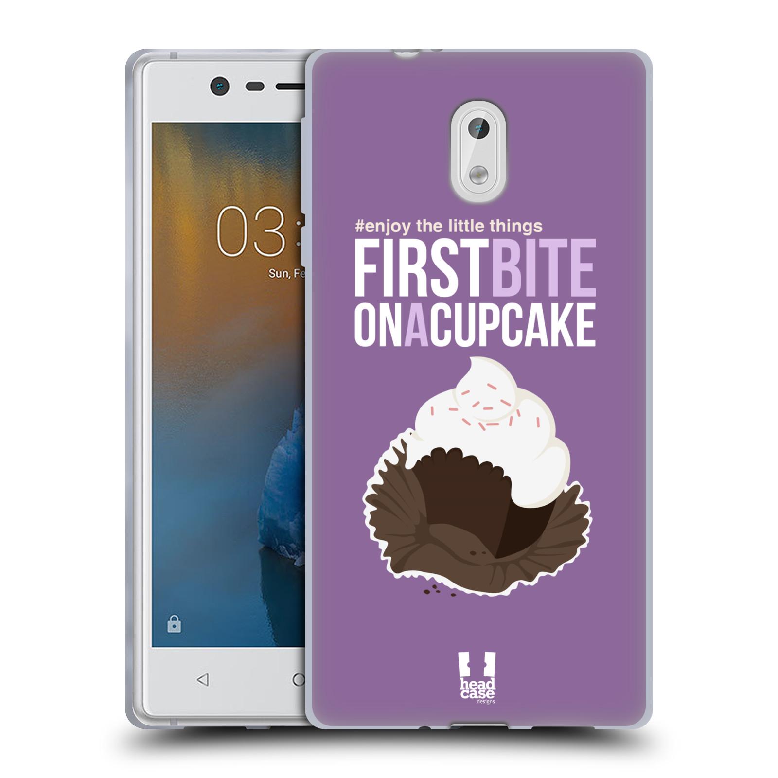 Funda HEAD CASE DESIGNS disfrutar de las pequeñas cosas suave Gel caso para Nokia 3