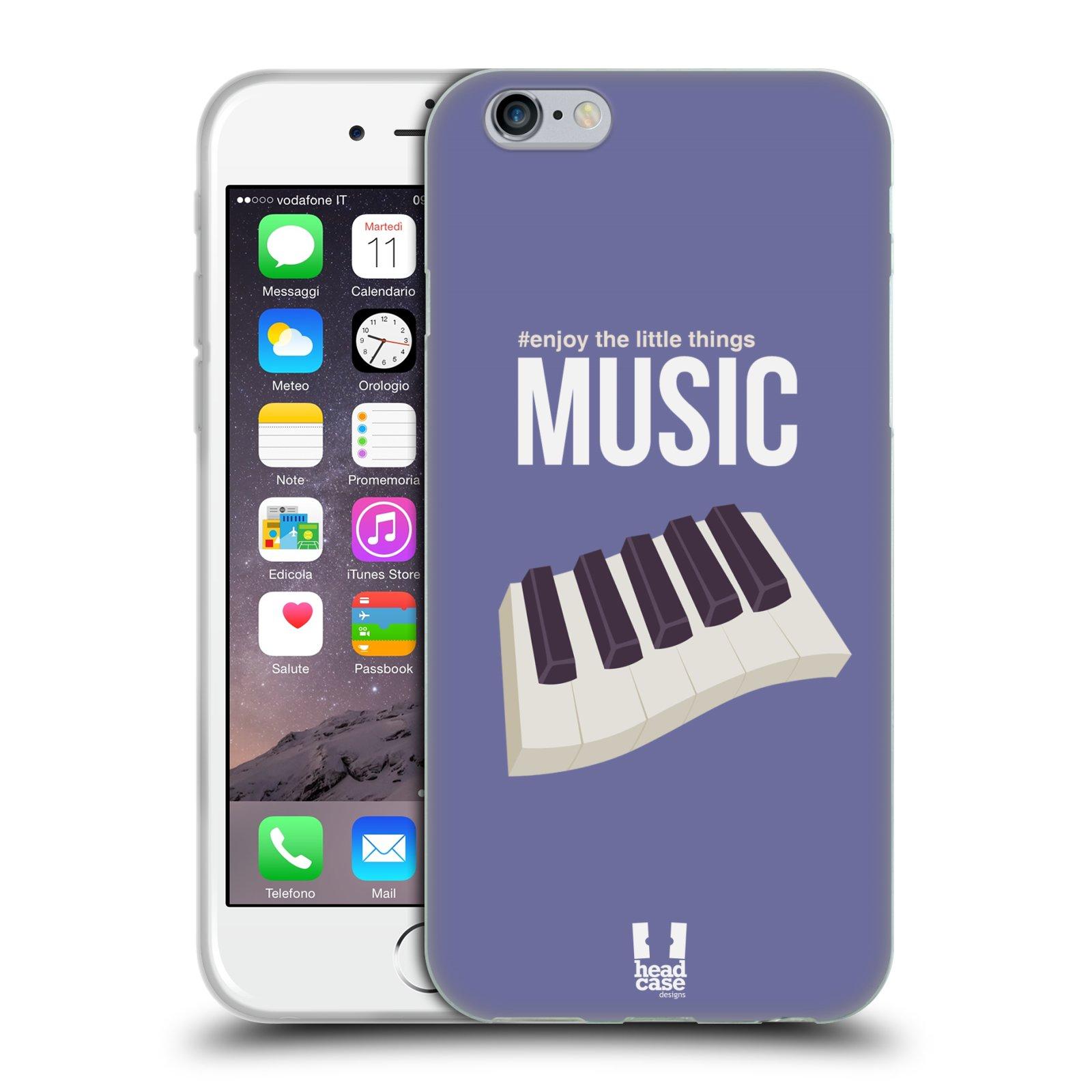 Case Designs disfrutar del pequeño HEAD cosas Gel caso para teléfonos APPLE iPHONE