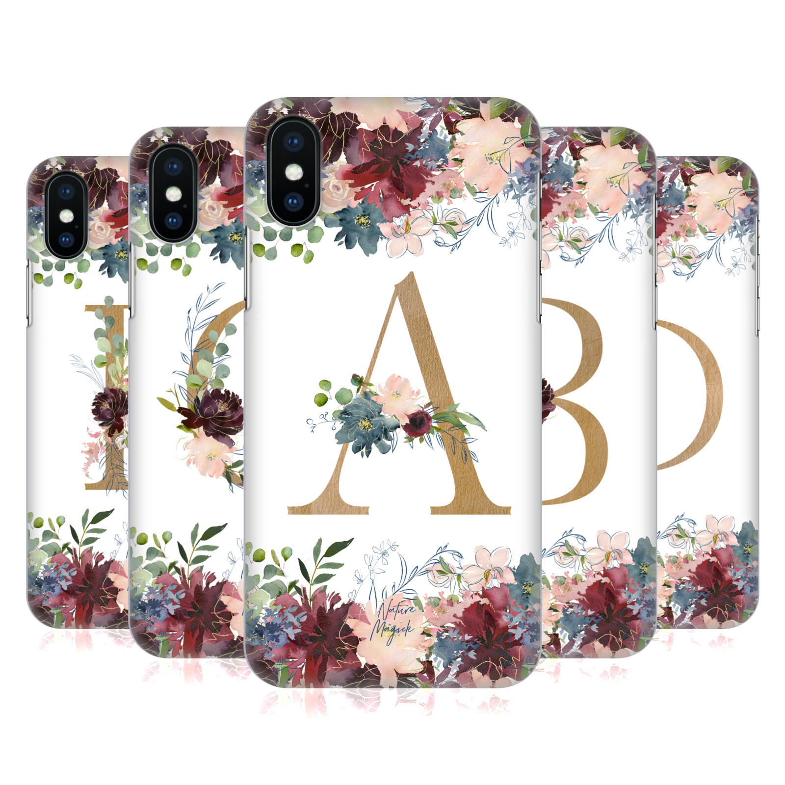 Nature Magick Flowers Monogram Floral Gold
